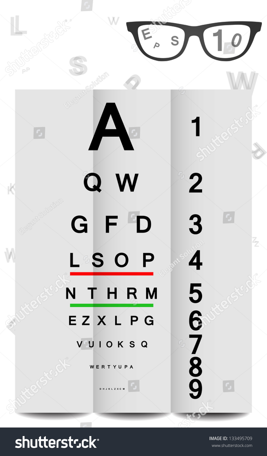 Eye chart in vector format can stock vector 133495709 shutterstock eye chart in vector format can be scaled to any size nvjuhfo Gallery