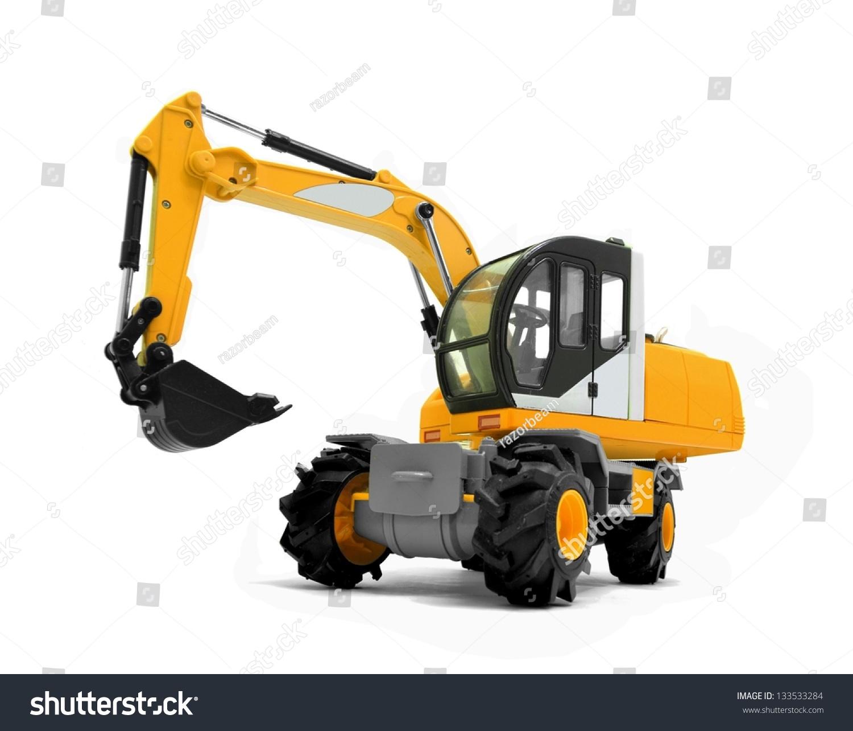 modern excavator machines stock photo 133533284 shutterstock. Black Bedroom Furniture Sets. Home Design Ideas