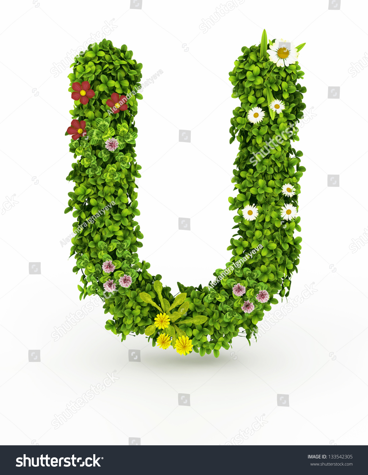 royaltyfree very nice floral alphabet.letters made…, Beautiful flower