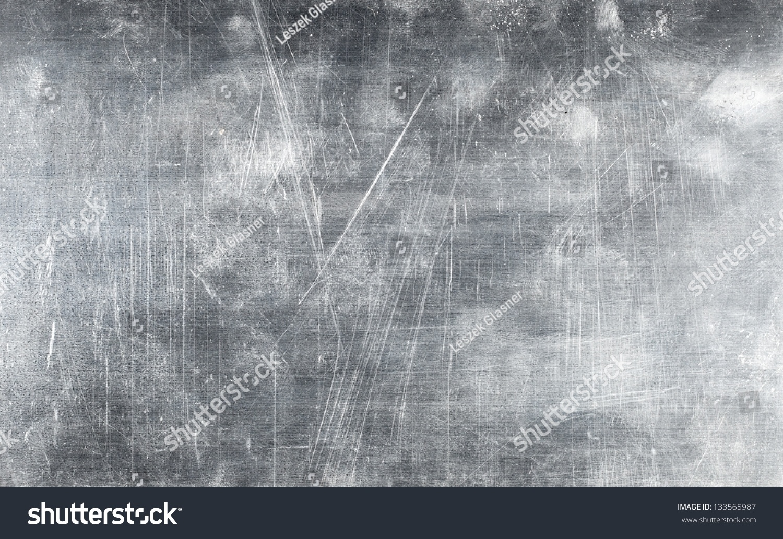 Grunge Metal Plate Texture Screws Background Stock Photo
