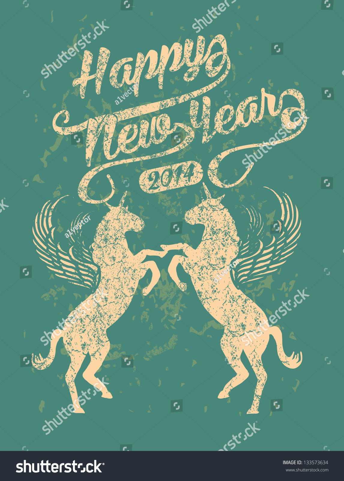 wings horse happy new year 2014