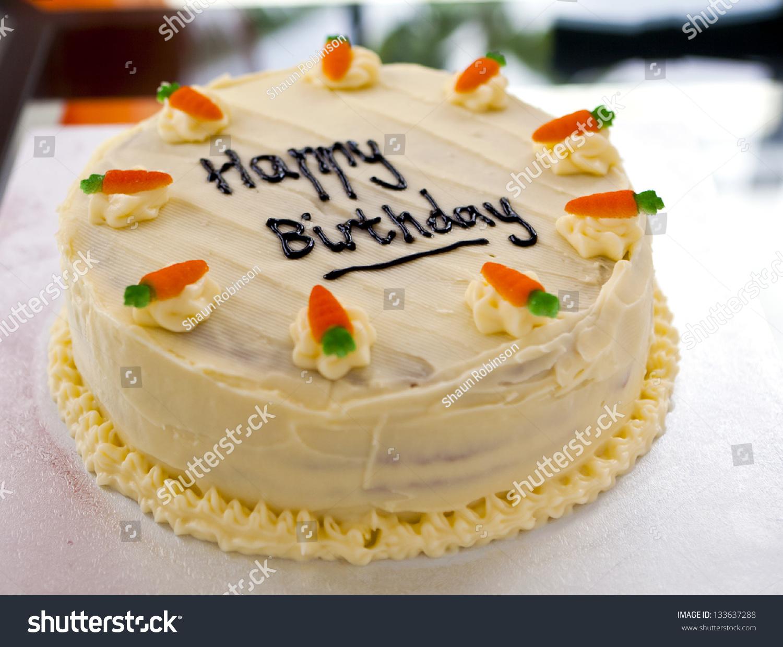Carrot Cake Birthday Cake Decorated Chocolate Stock Photo Edit Now