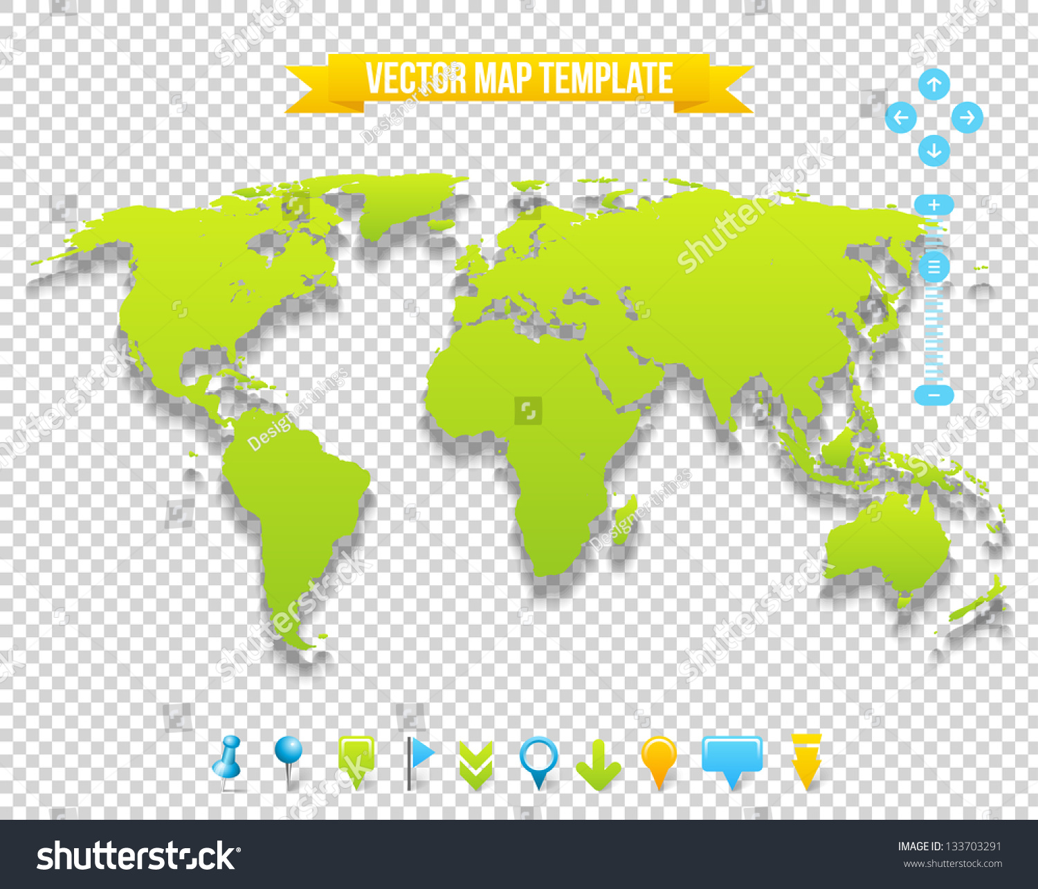 vector map template travel earth design stock vector royalty free