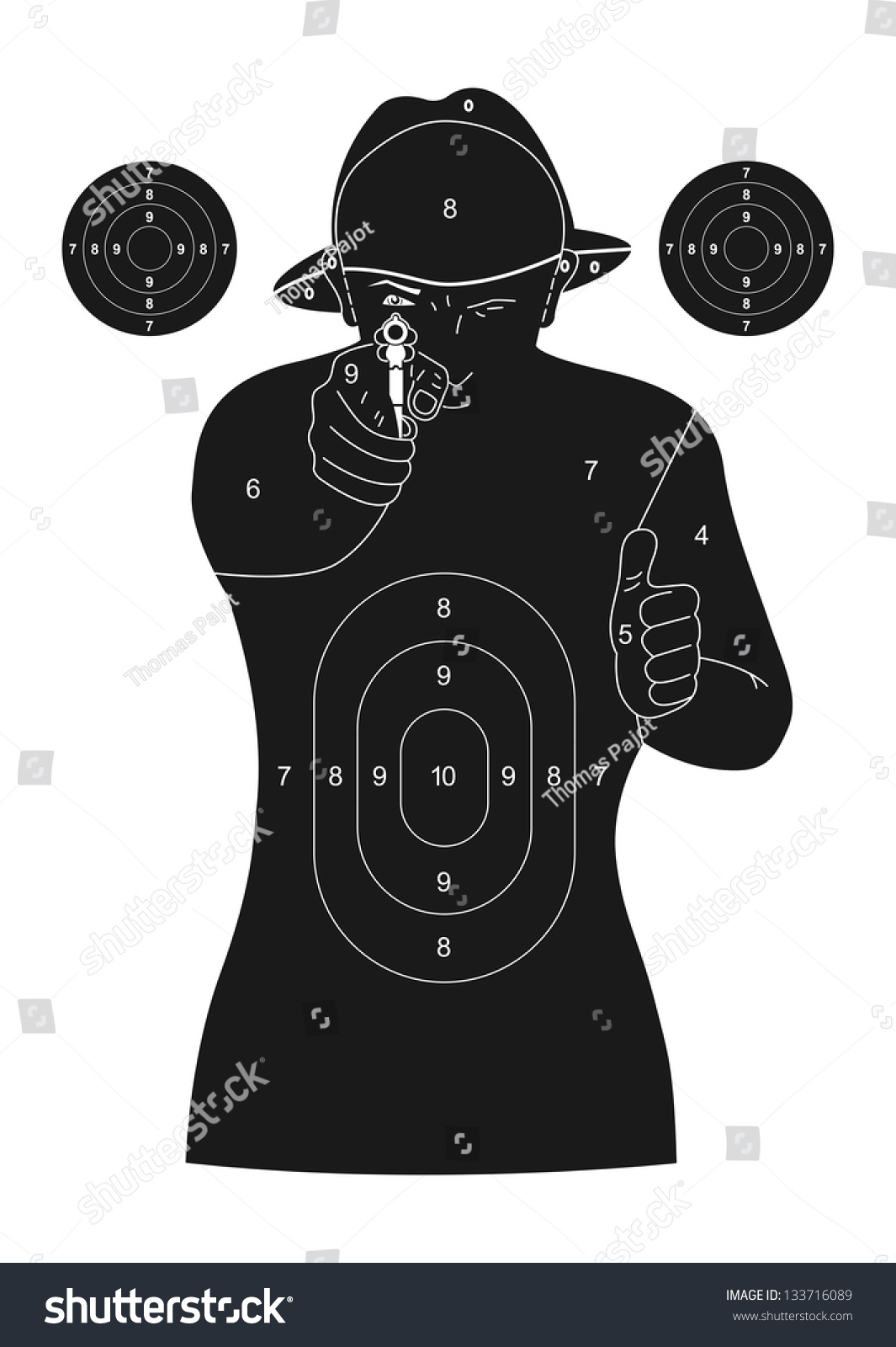 Playful image for printable human silhouette targets
