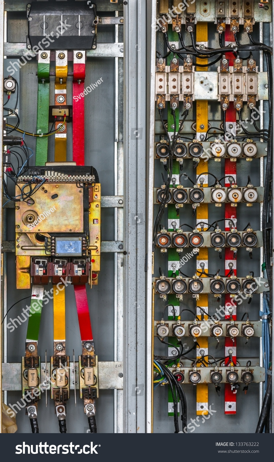 stock photo industrial fuse box on the wall closeup photo 133763222 industrial fuse box on wall closeup stock photo 133763222 Empty Box Conveyors at readyjetset.co