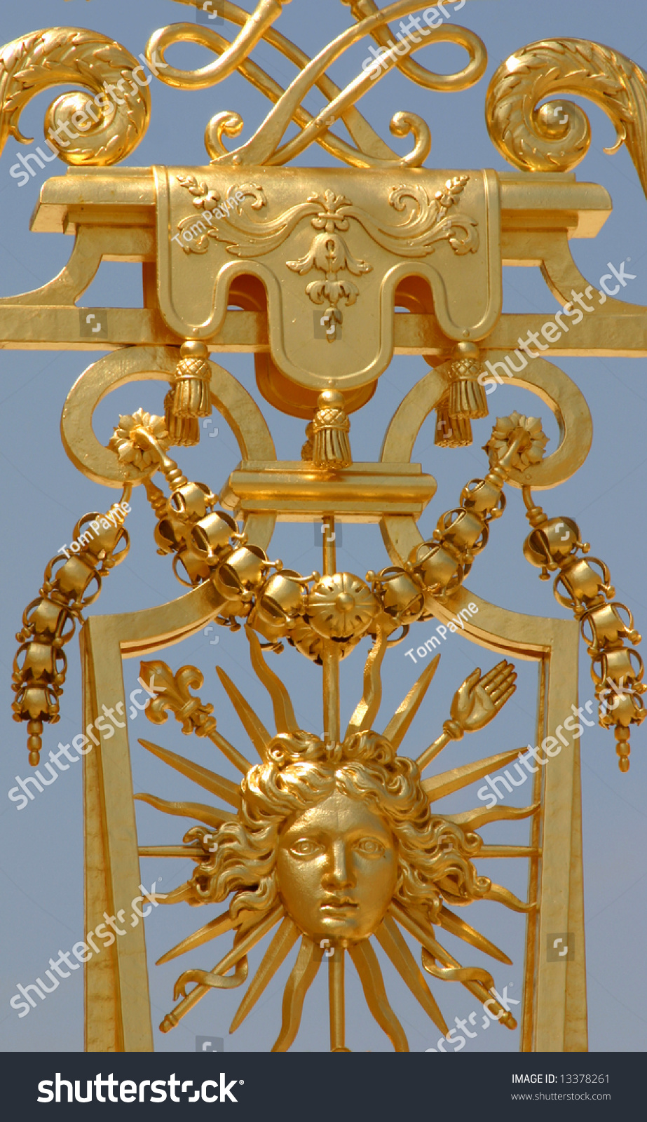 Golden Symbol Sun King Roi Du Stock Photo Edit Now 13378261