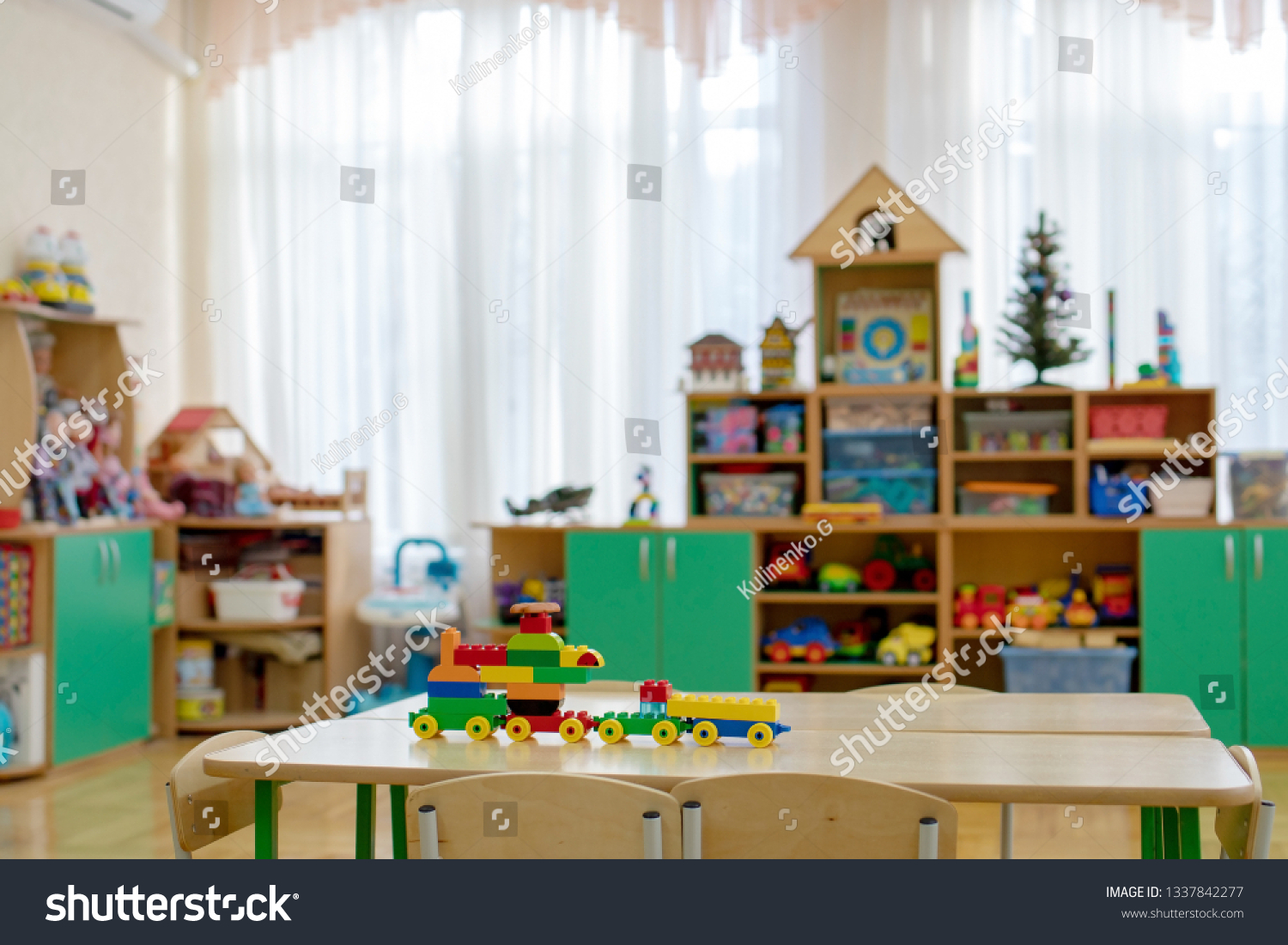 Table Bright Childrens Room Pencils Toy Stock Photo Edit