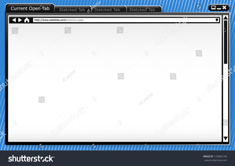 modern browser wire frame template background browser window vector image 133800146. Black Bedroom Furniture Sets. Home Design Ideas