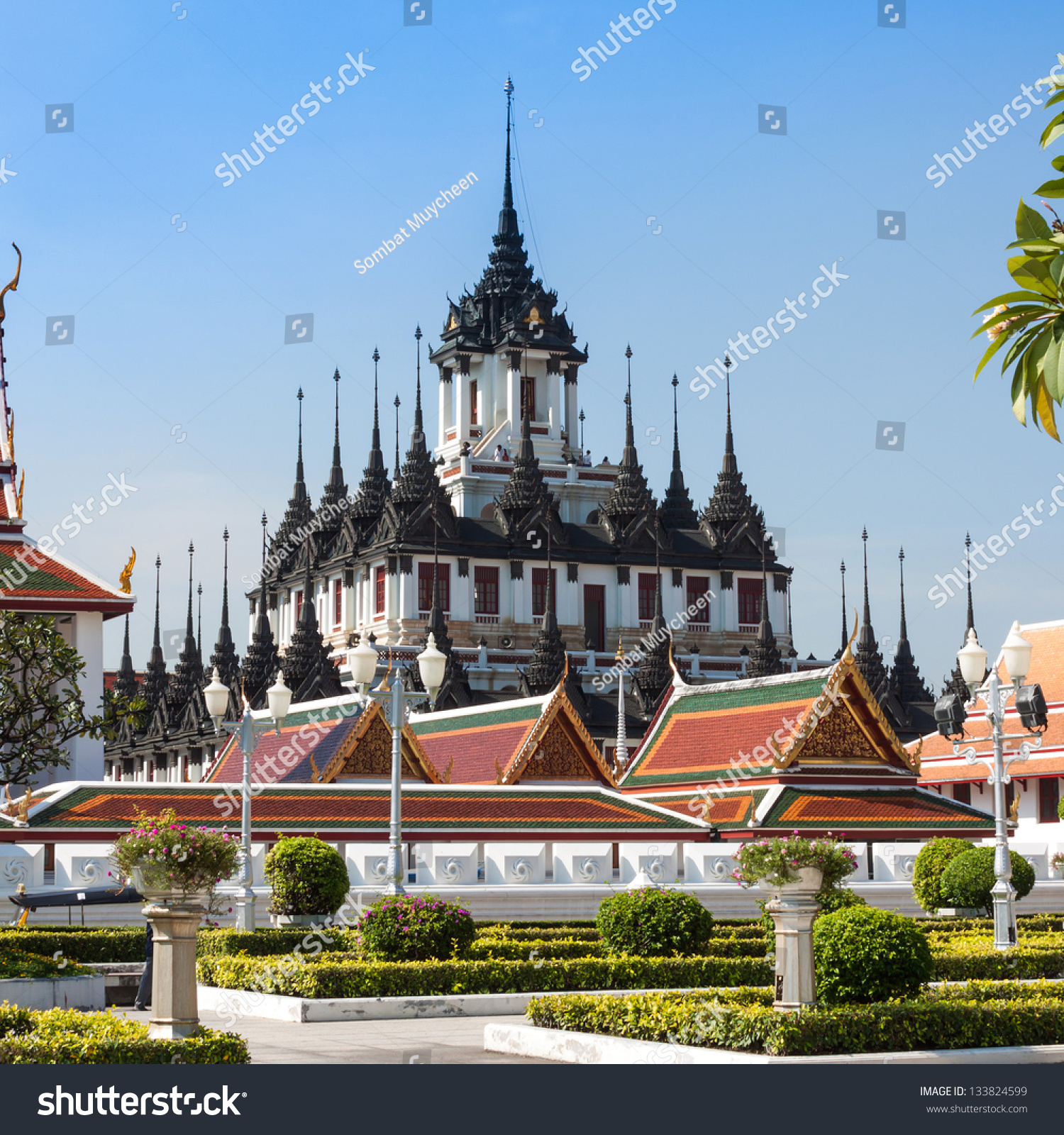 Loha Prasat Metal Palace Wat Ratchanatdaram Stock Photo ...