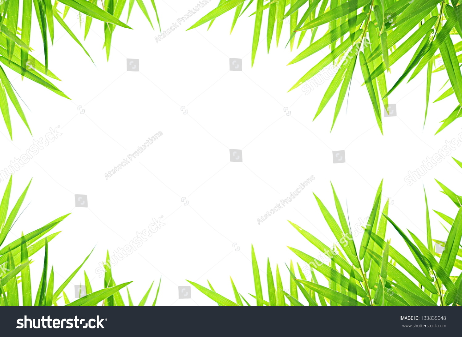 bamboo leaf border design background stock photo 133835048
