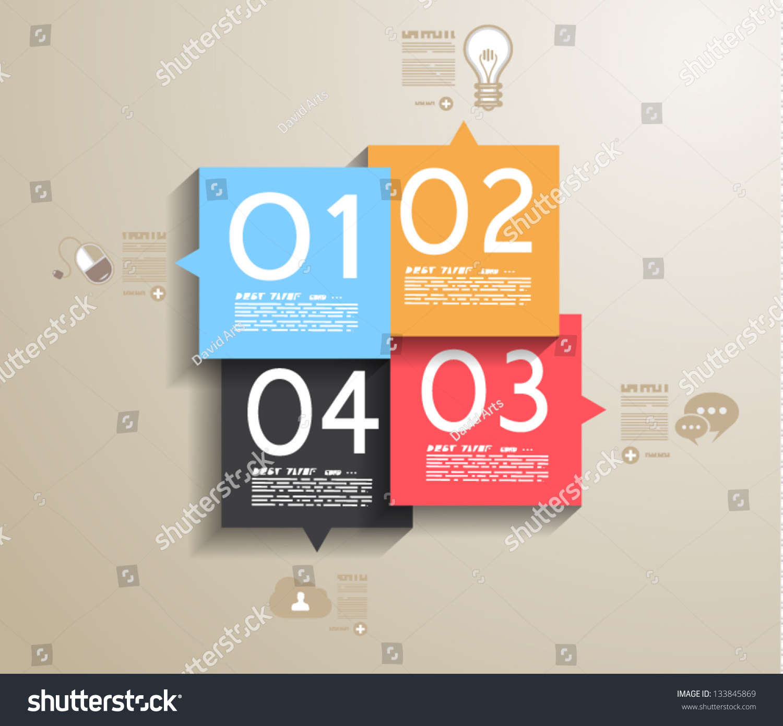 Infographic Design Template Paper Tags Idea Vector 133845869 – Paper Design Template