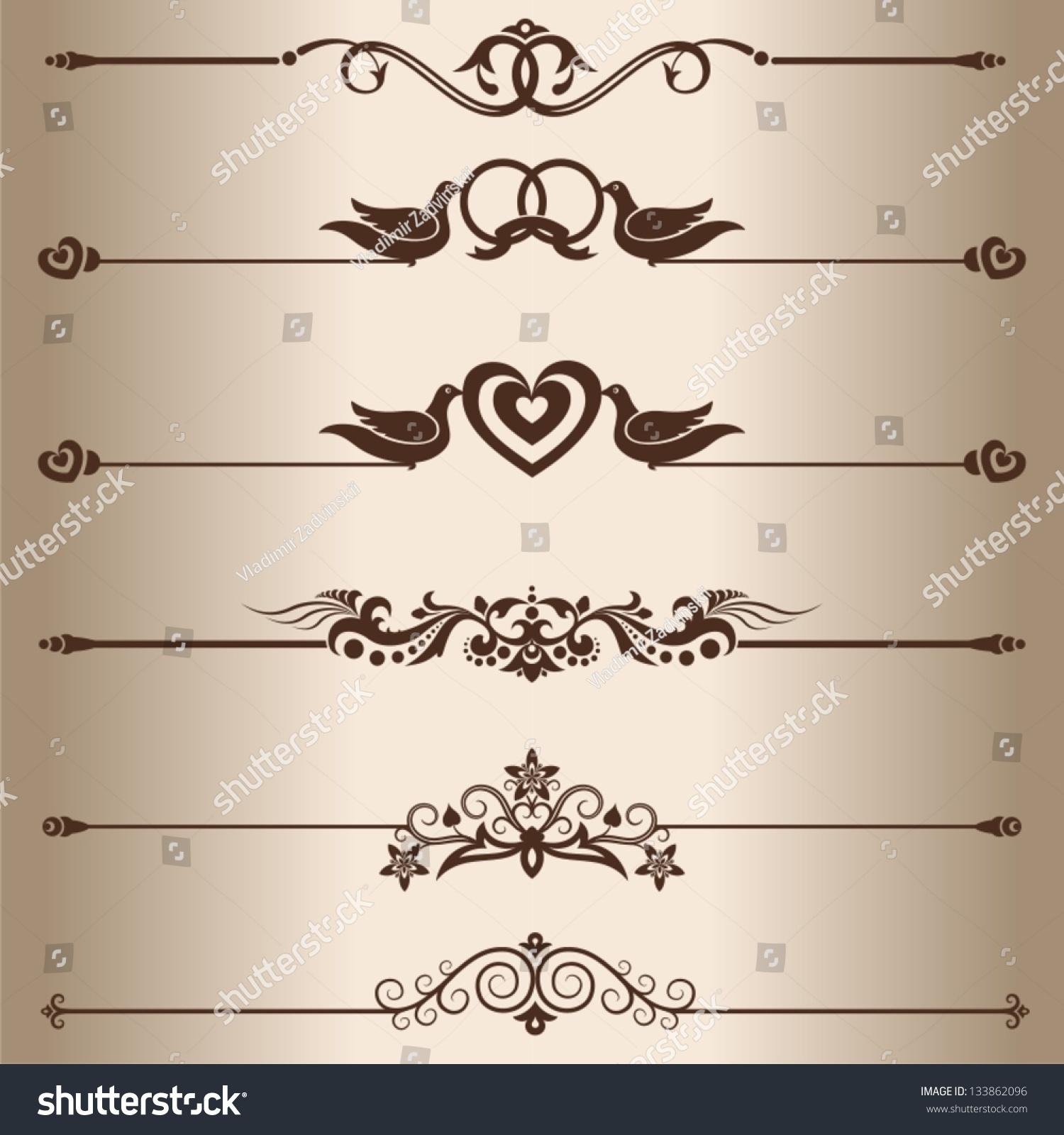 decorative lines elements design decorative line stock