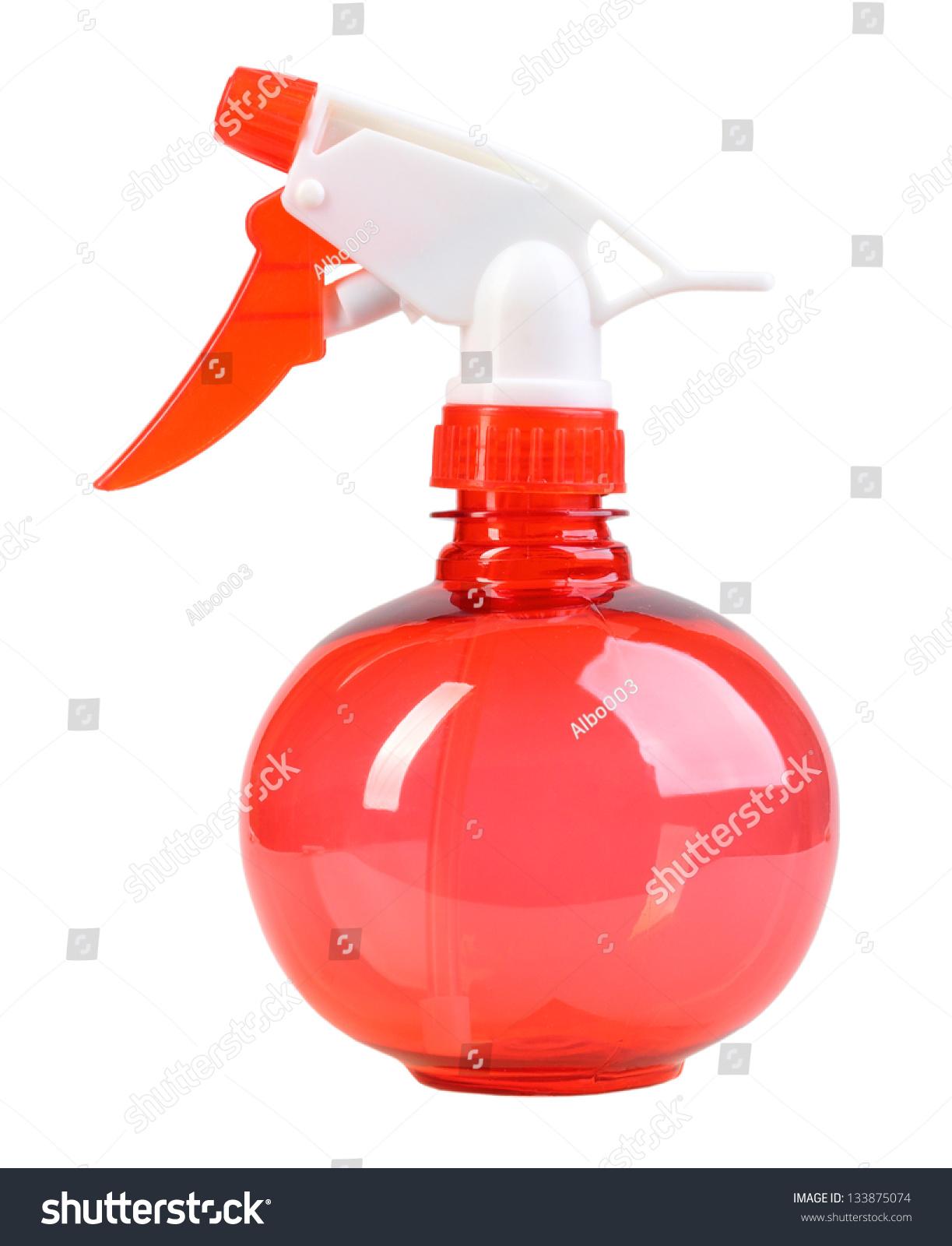 Ballform Red Sprayer Spraying Water On Stock Photo (Edit Now