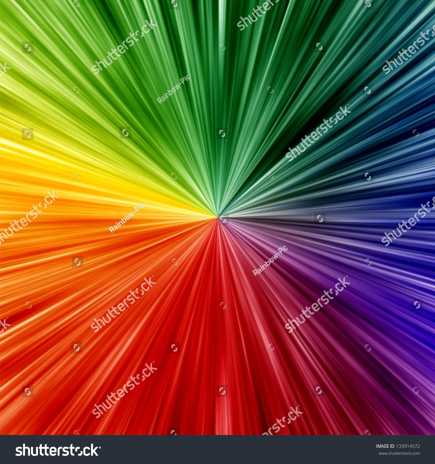 Art Rainbow Colors Abstract Zoom Background Stock Photo