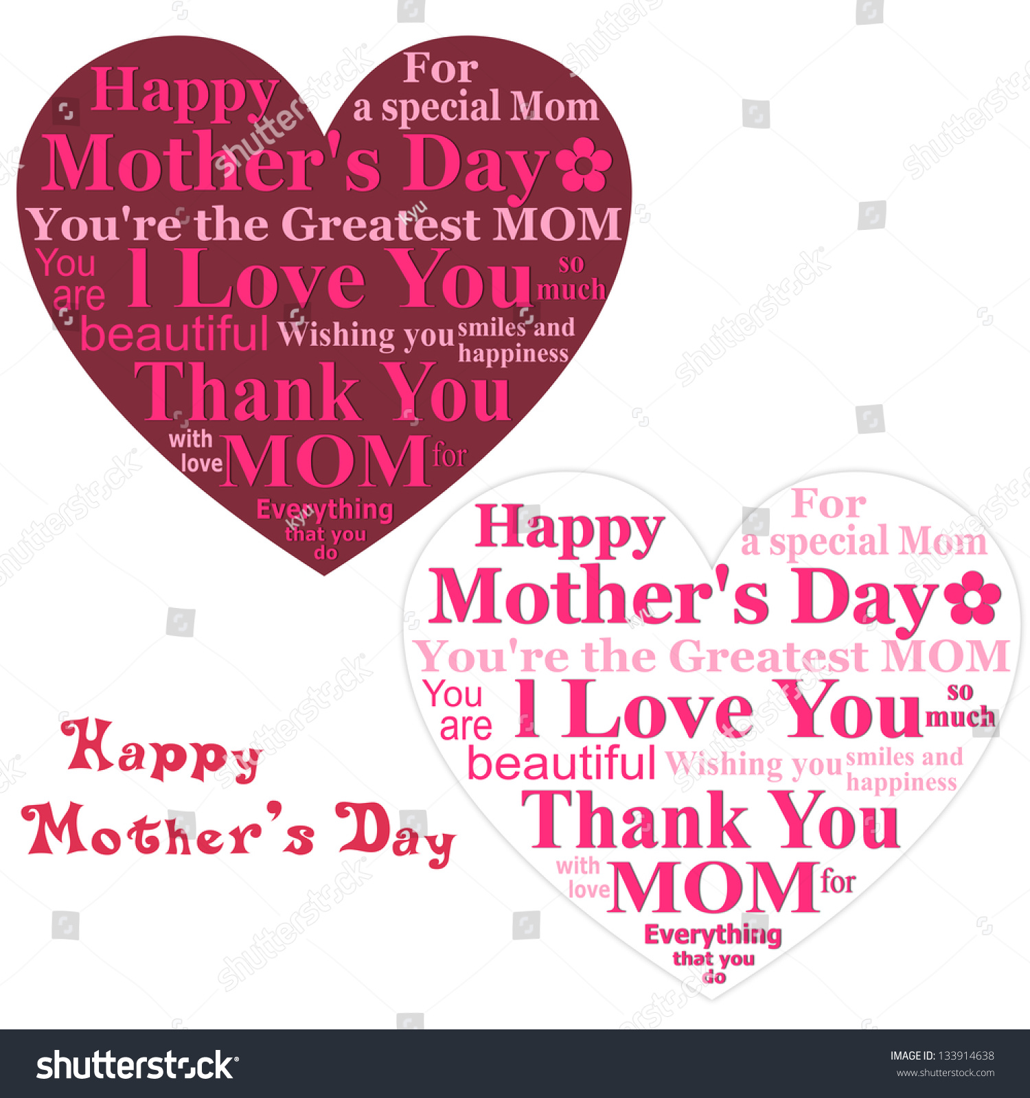 Happy mothers day card design on white background ez canvas id 133914638 maxwellsz