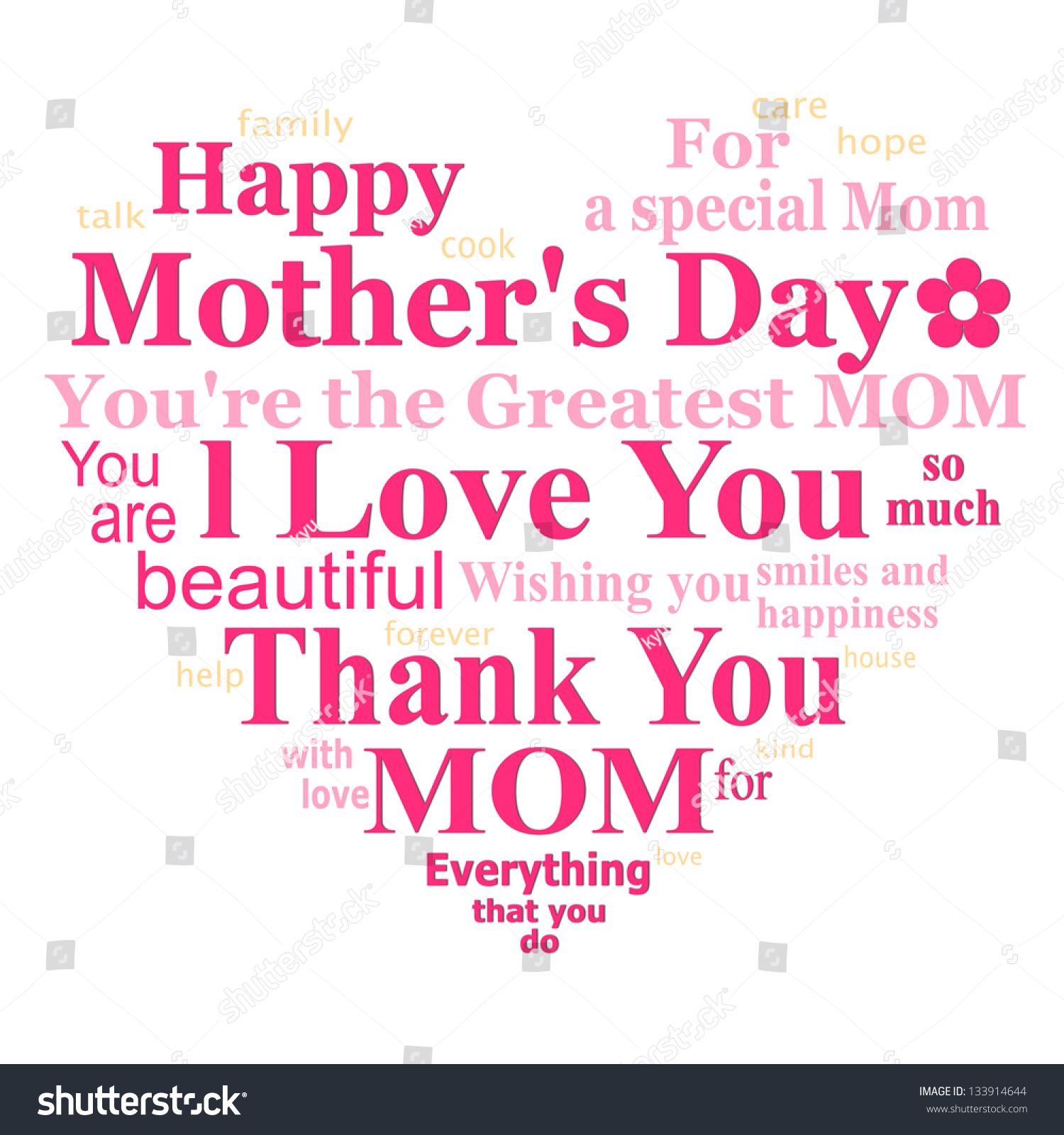 Happy Mothers Day Card Design On Stock Illustration