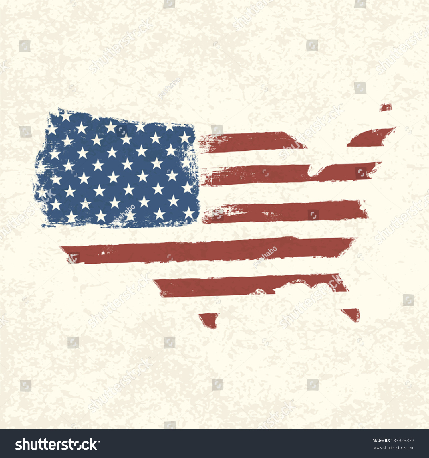 Shape Of American Map Vector Eps10