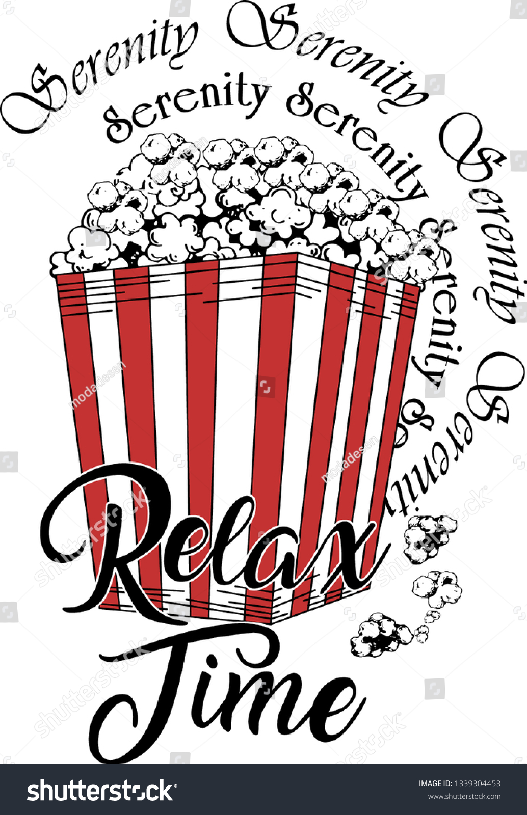 dac1a5a79 Pop Corn Slogan Tshirt Design Relax Stock Vector (Royalty Free ...