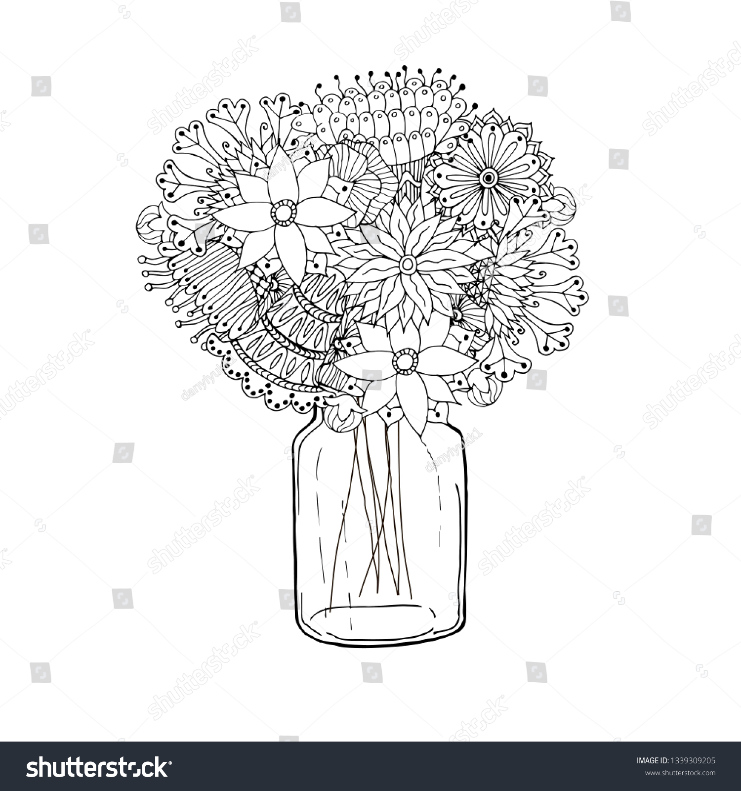 Free Coloring Page for Adults - Easy Peasy and Fun | 1600x1500