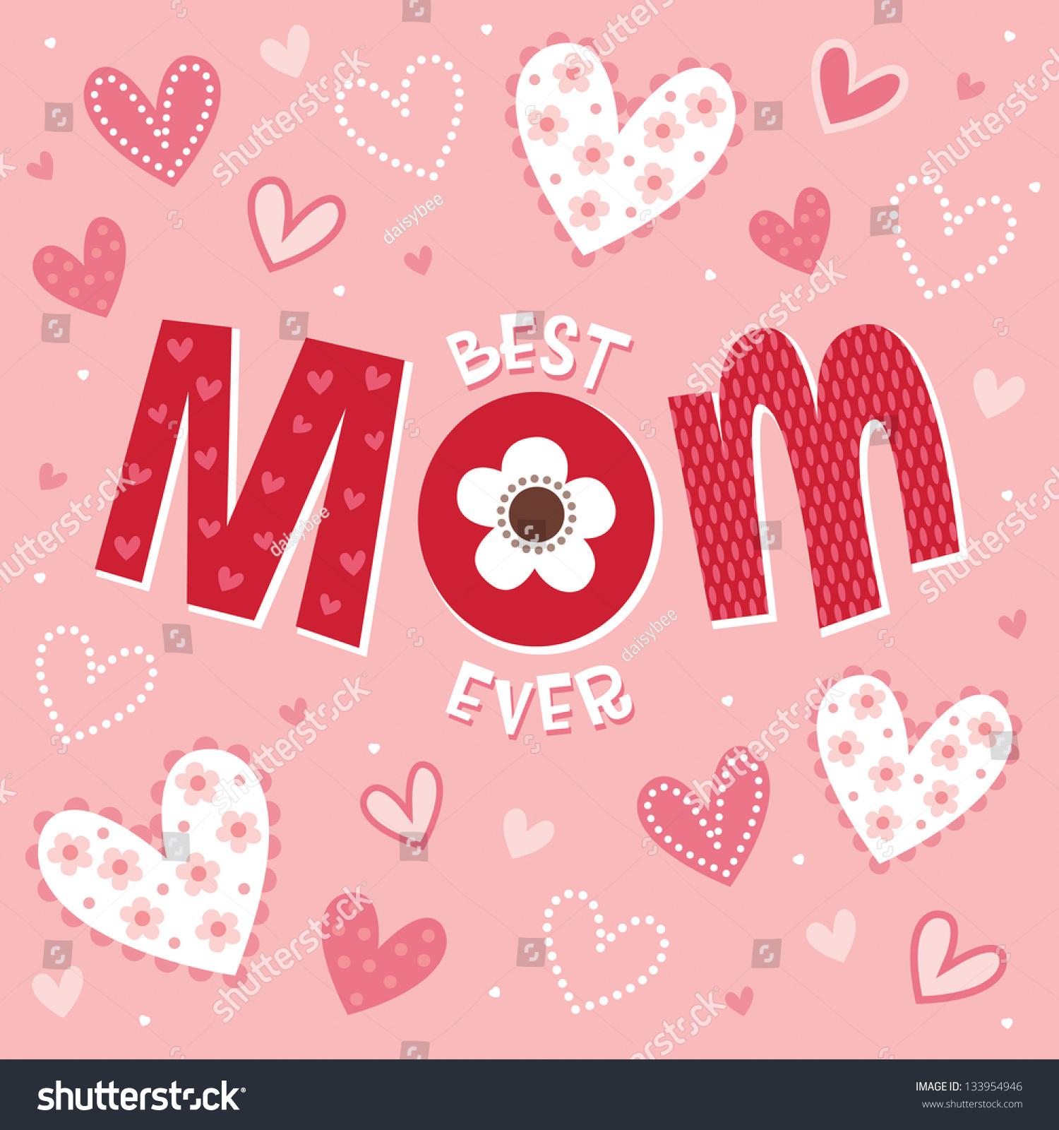 Raster Mothers Day Card Birthday Card Stock Illustration