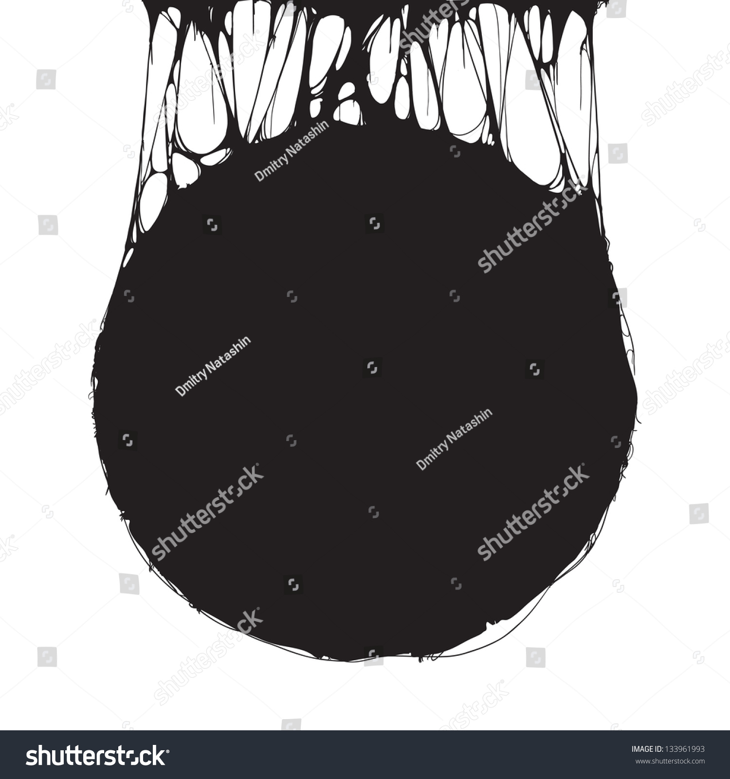 creepy slime halloween signboard black white stock vector