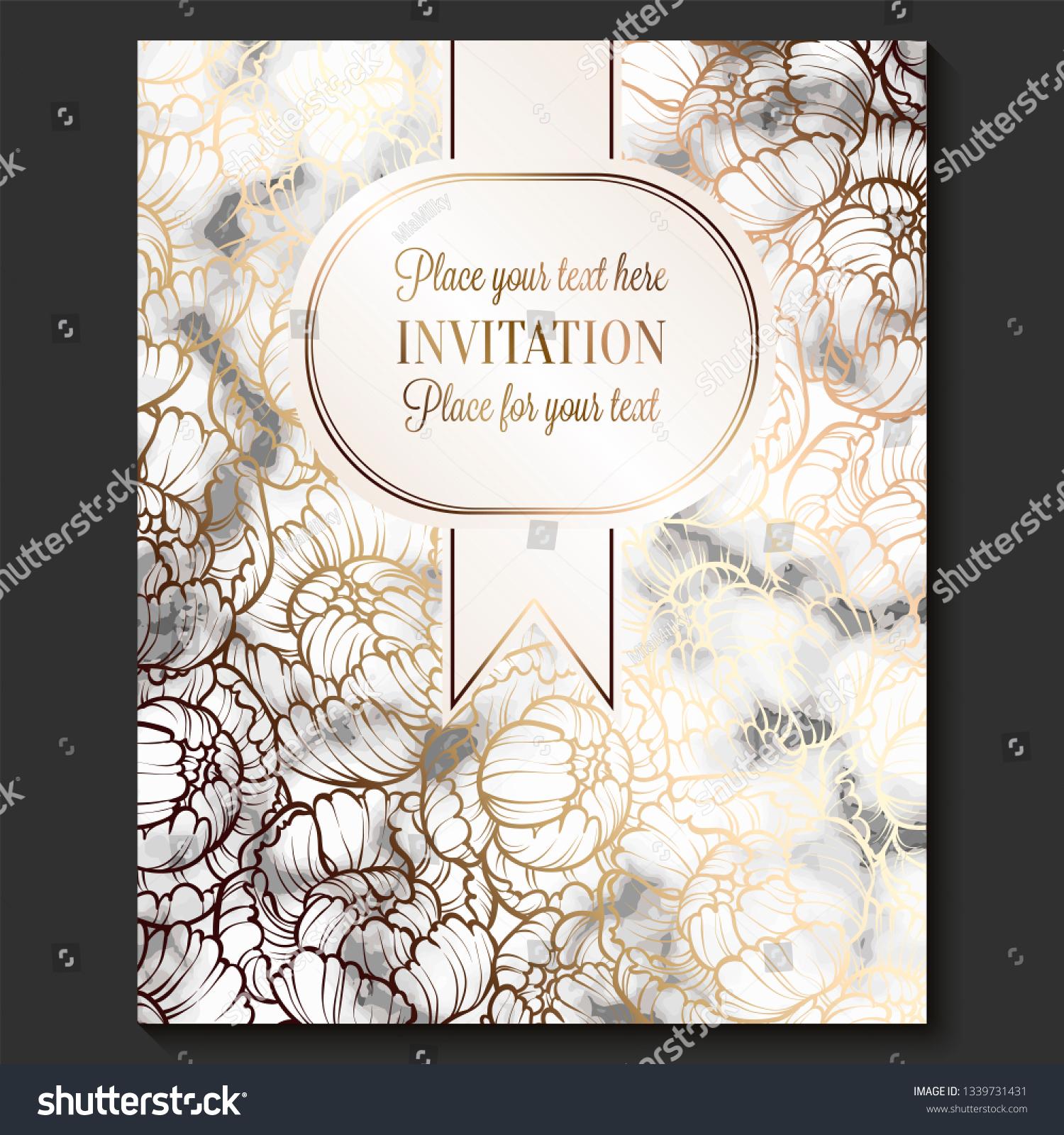 Luxury Elegant Wedding Invitation Cards Marble Stock Image ...