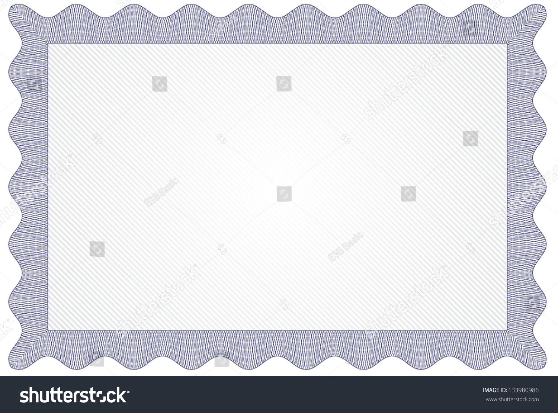 Blank certificate diploma template stock vector 133980986 blank certificate or diploma template xflitez Images