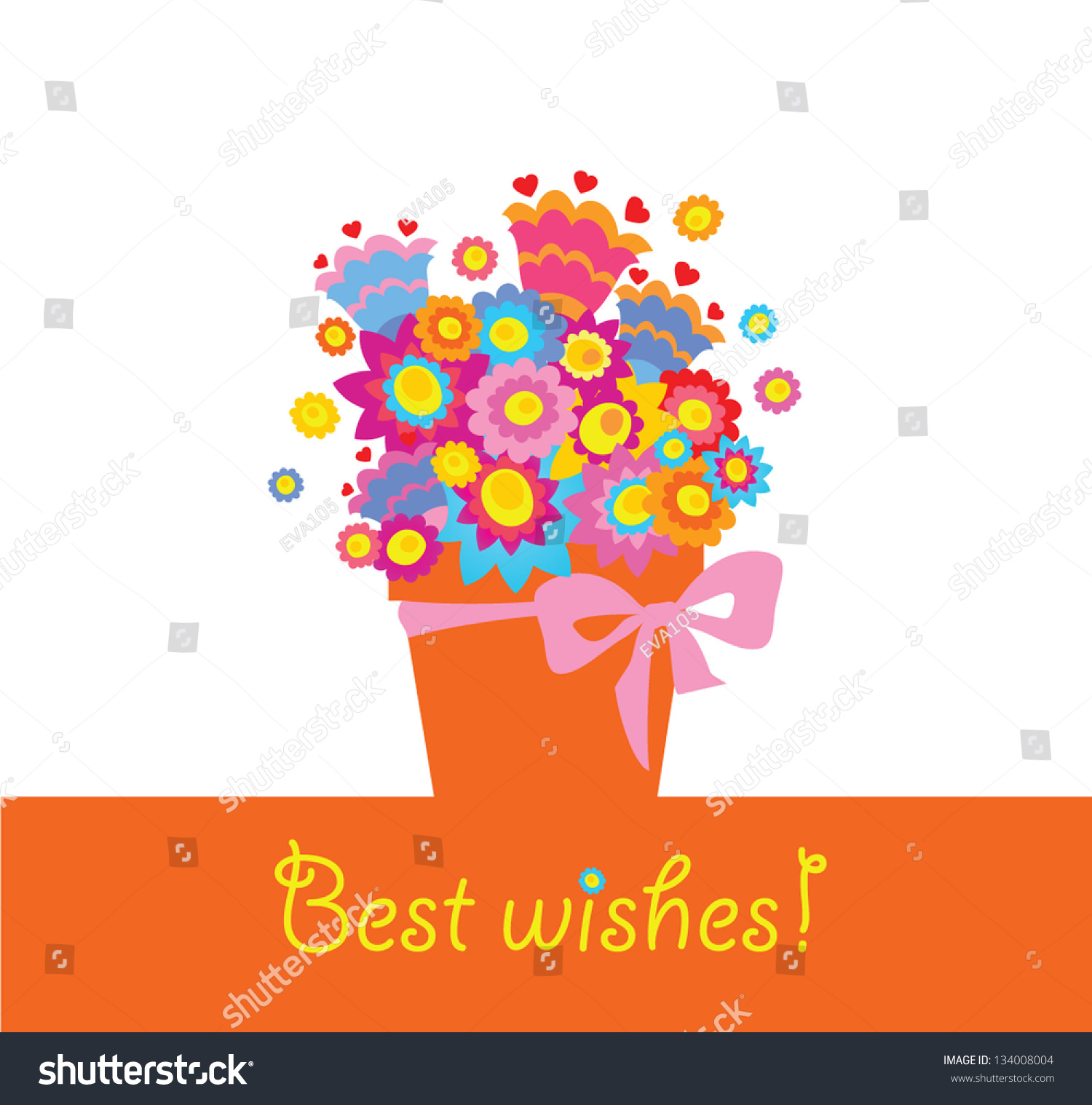 Best Wishes! Stock Vector Illustration 134008004