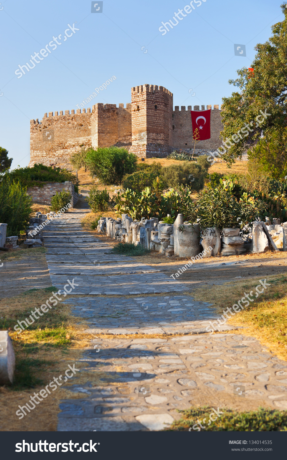 Roman Fortress At Ayasuluk Hill - Selcuk Ephesus Turkey ...