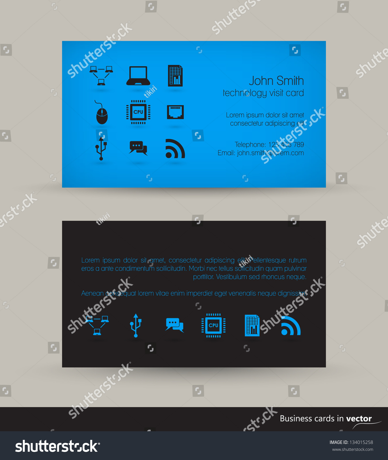 Technology business visit card icons black stock vector 134015258 technology business visit card with icons in black blue combination in vector magicingreecefo Gallery