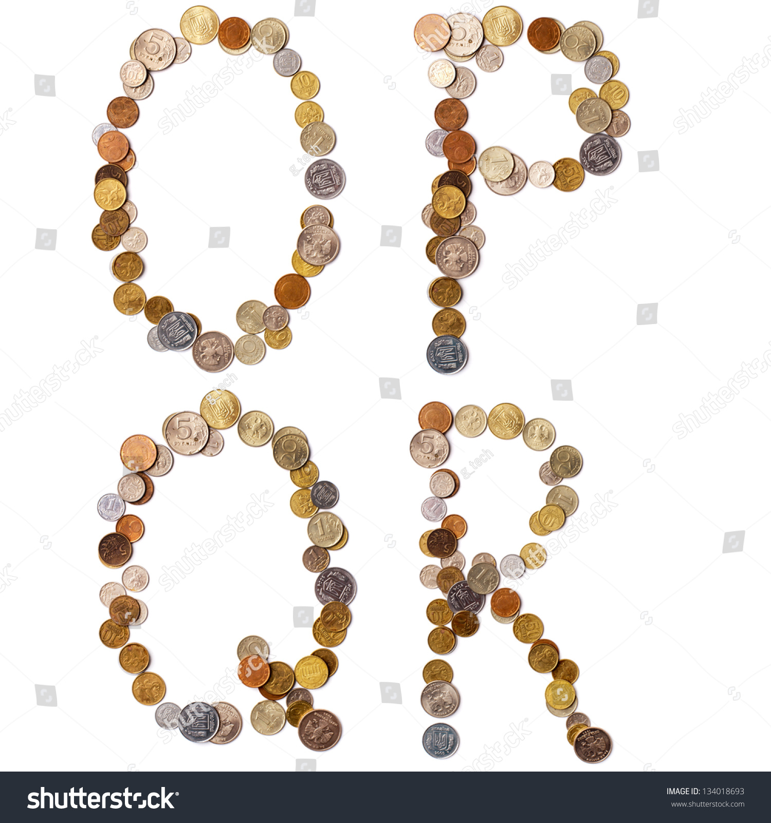 letters p q and r stock photography image 15830572 o p q r alphabet letters from the coins of different 552