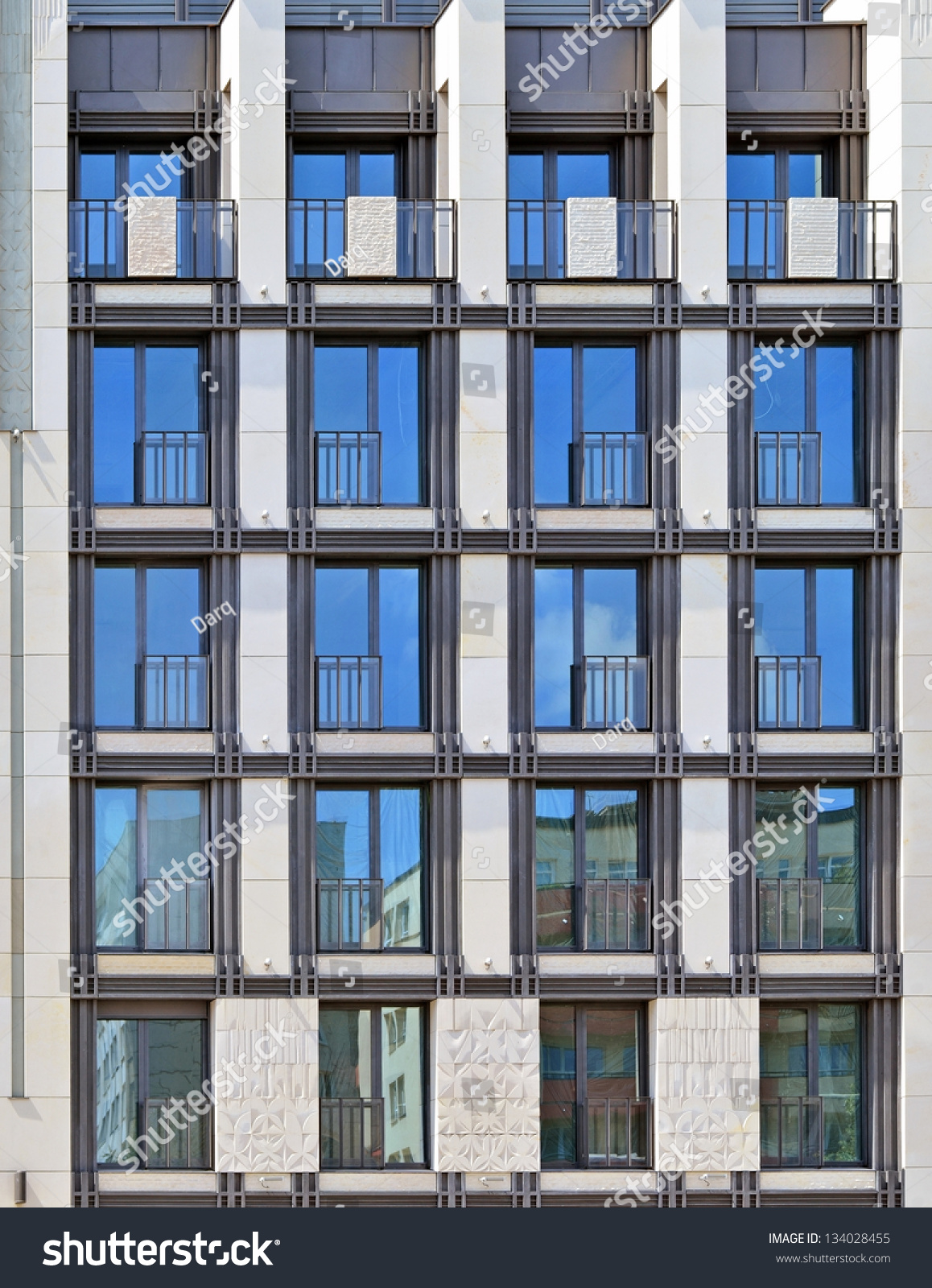 Residential New Building Facade Stock Photo 134028455: building facade pictures