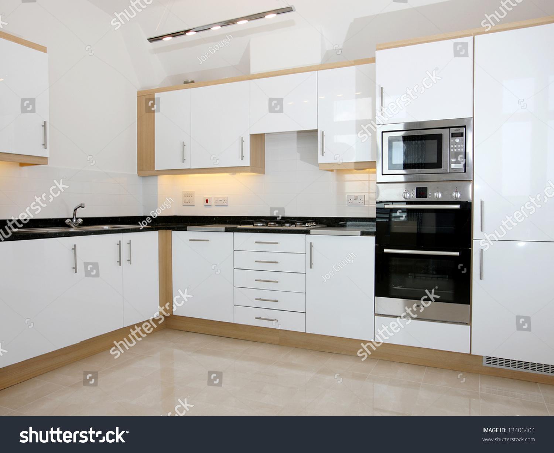 Luxury New Kitchen Integrated Appliances Stock Photo & Image ...