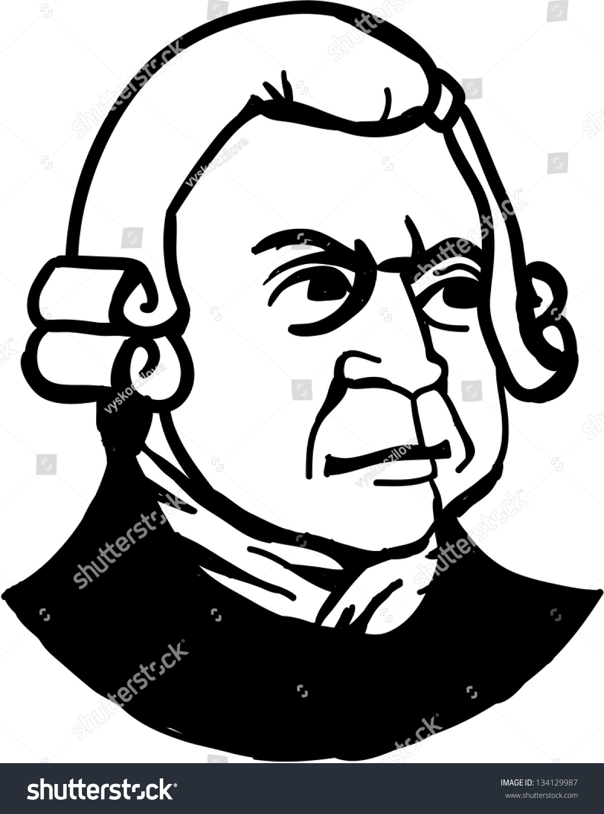 Sir Richard Arkwright Englishman Who Invent Stock Vector (Royalty ...