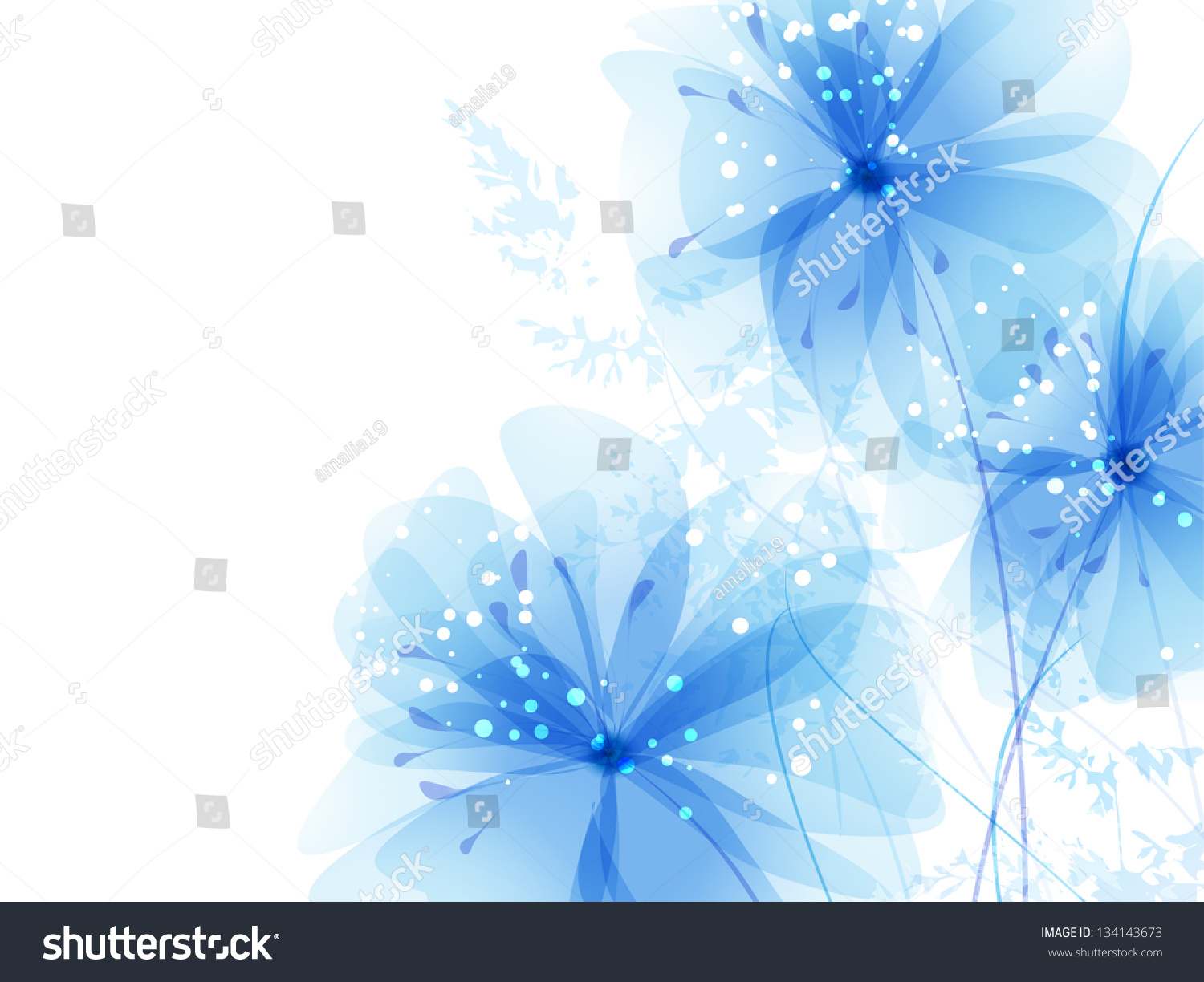 blue flower backgrounds vector - photo #14