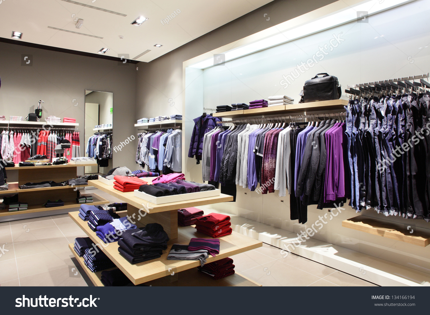 Interior Brand New Fashion Clothes Store Stock Photo 134166194 - Shutterstock
