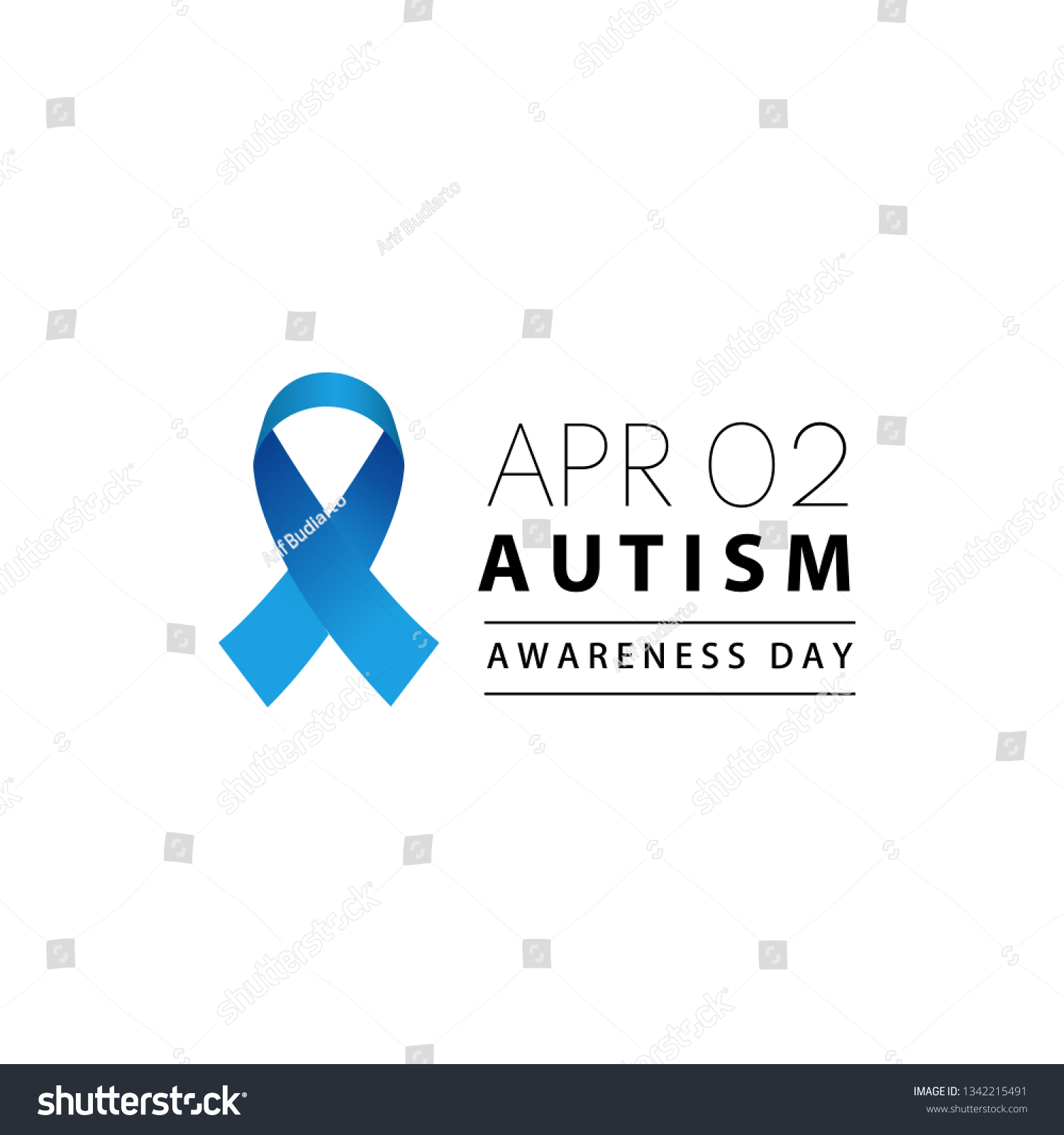 World Autism Awareness Day On 2nd Stock Vector Royalty Free 1342215491