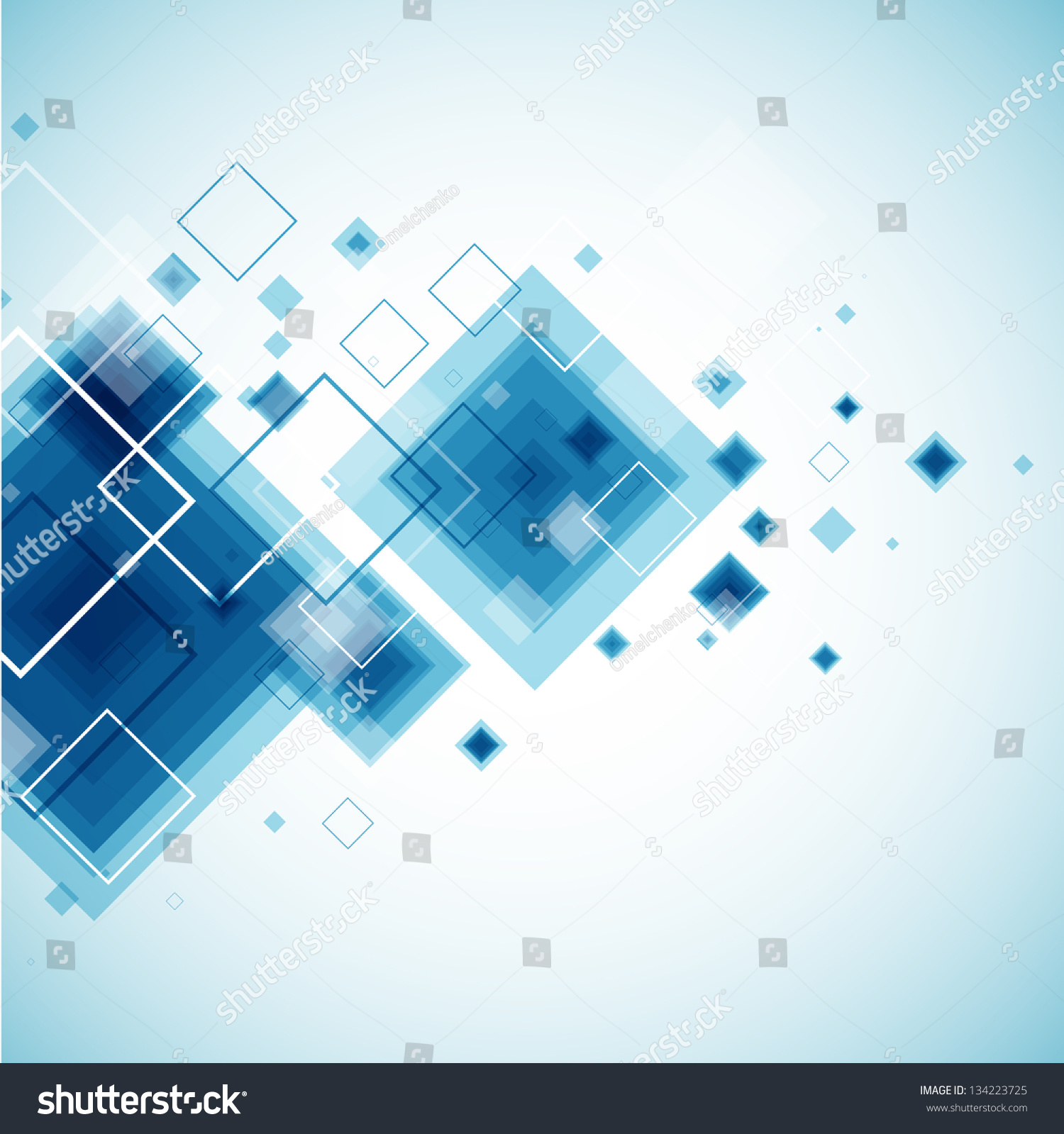 Blue Technology Background. Vector  134223725 : Shutterstock