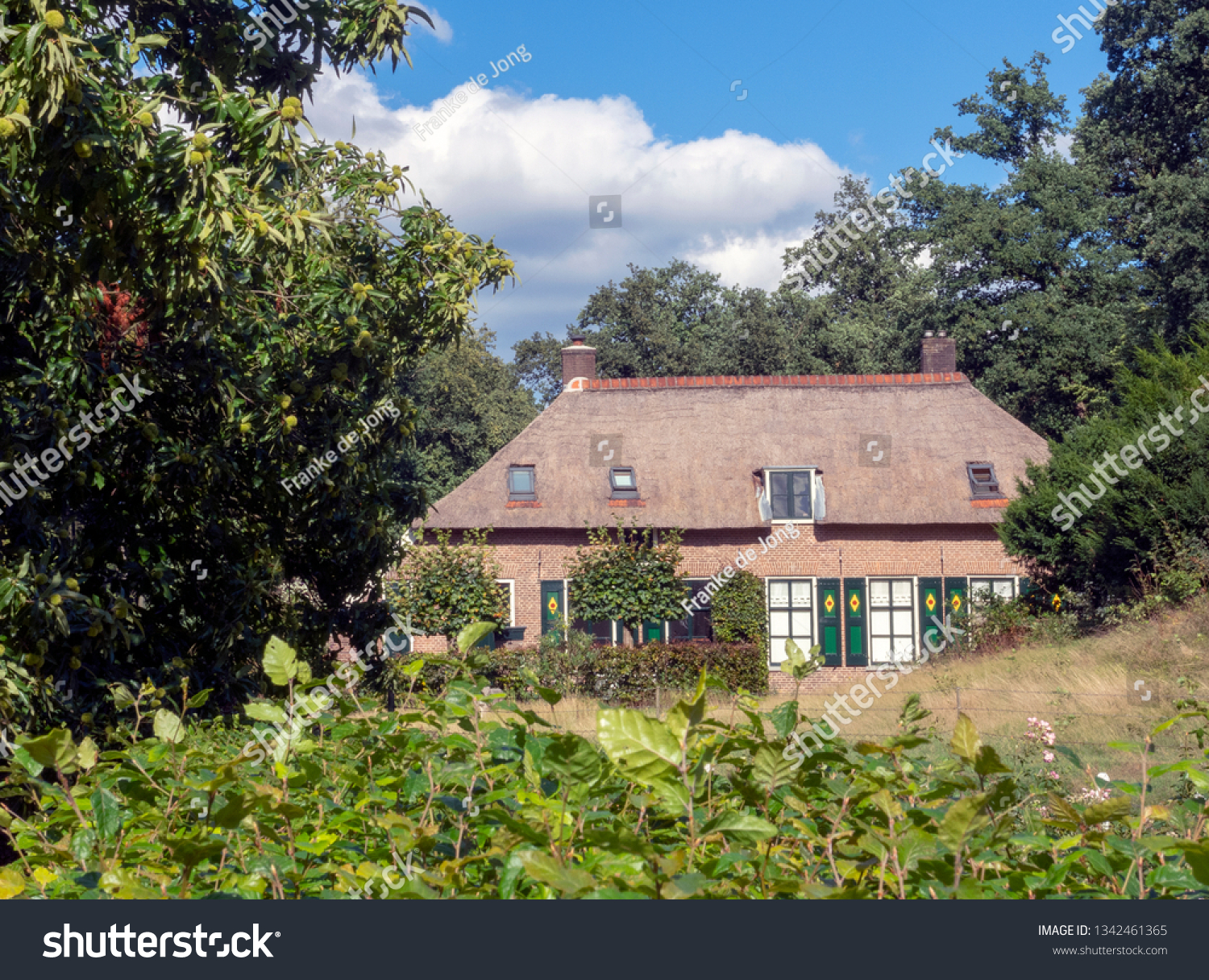 Rozendaal, The Netherlands, September 9, 2018: Porter's house at the castle Rosendael located in Rozendaal in the Netherlands #1342461365