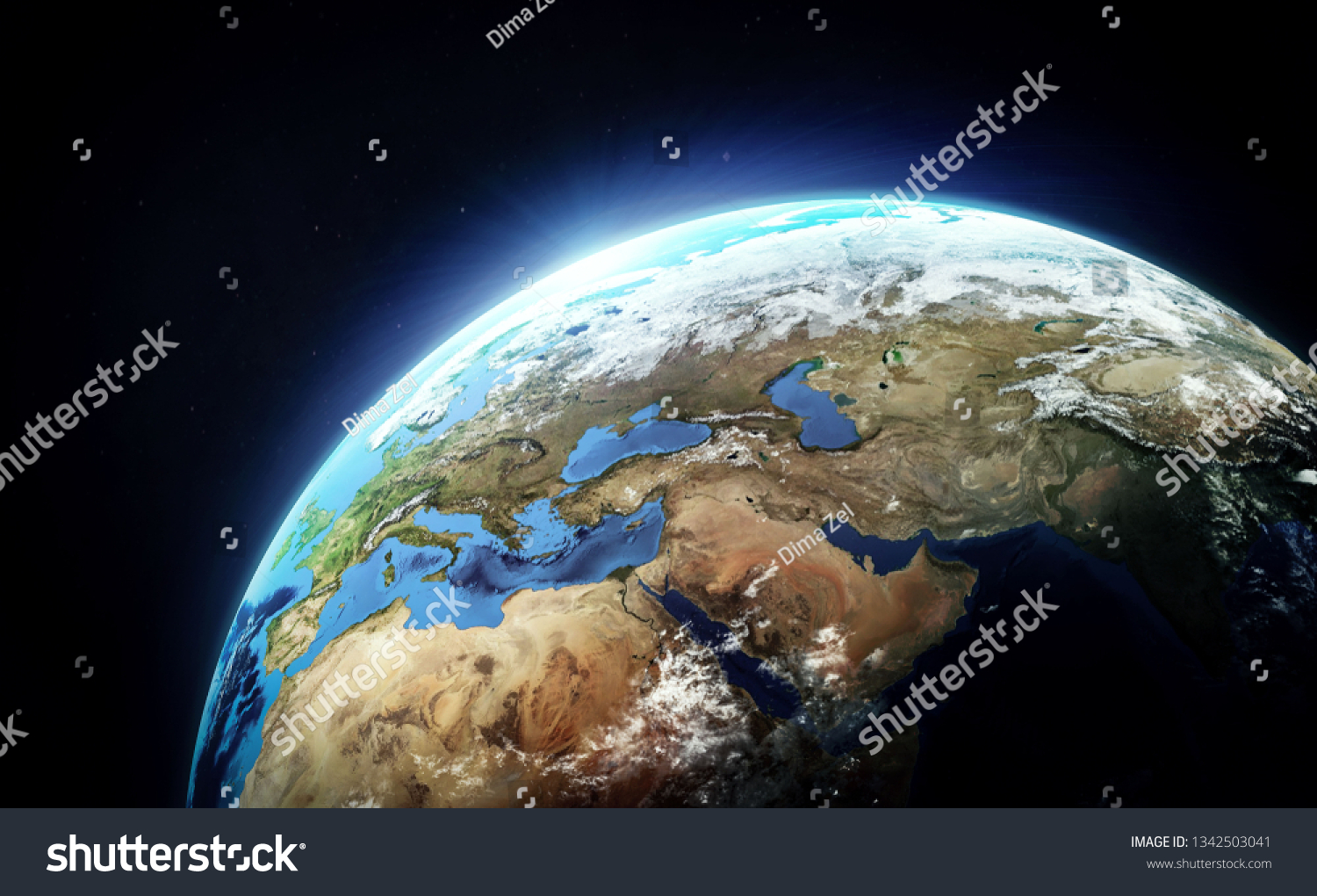 Planet Earth Space Wallpaper Continents Ocean Stock Photo Edit