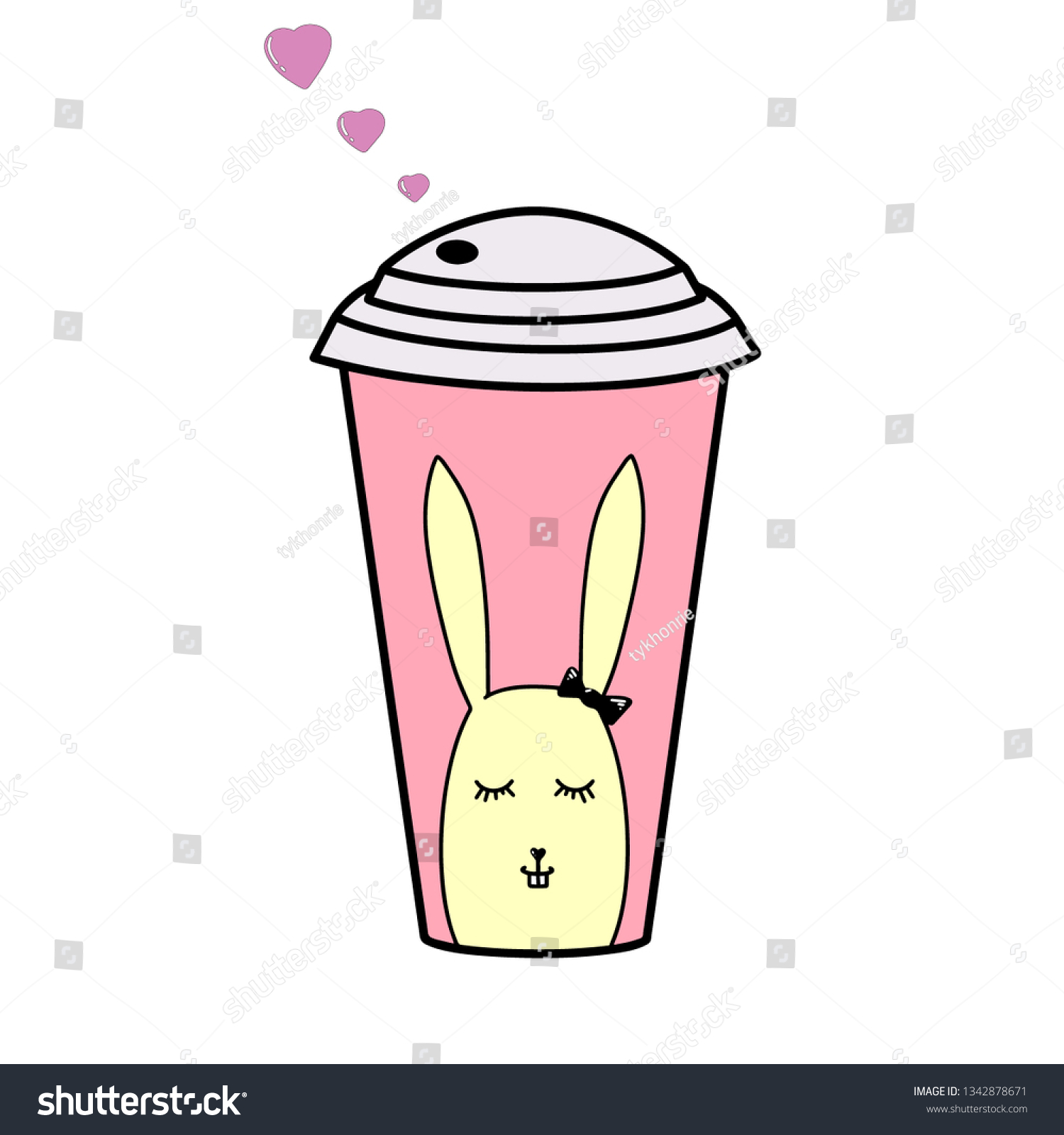 stock-vector-cup-of-coffee-with-pink-hea
