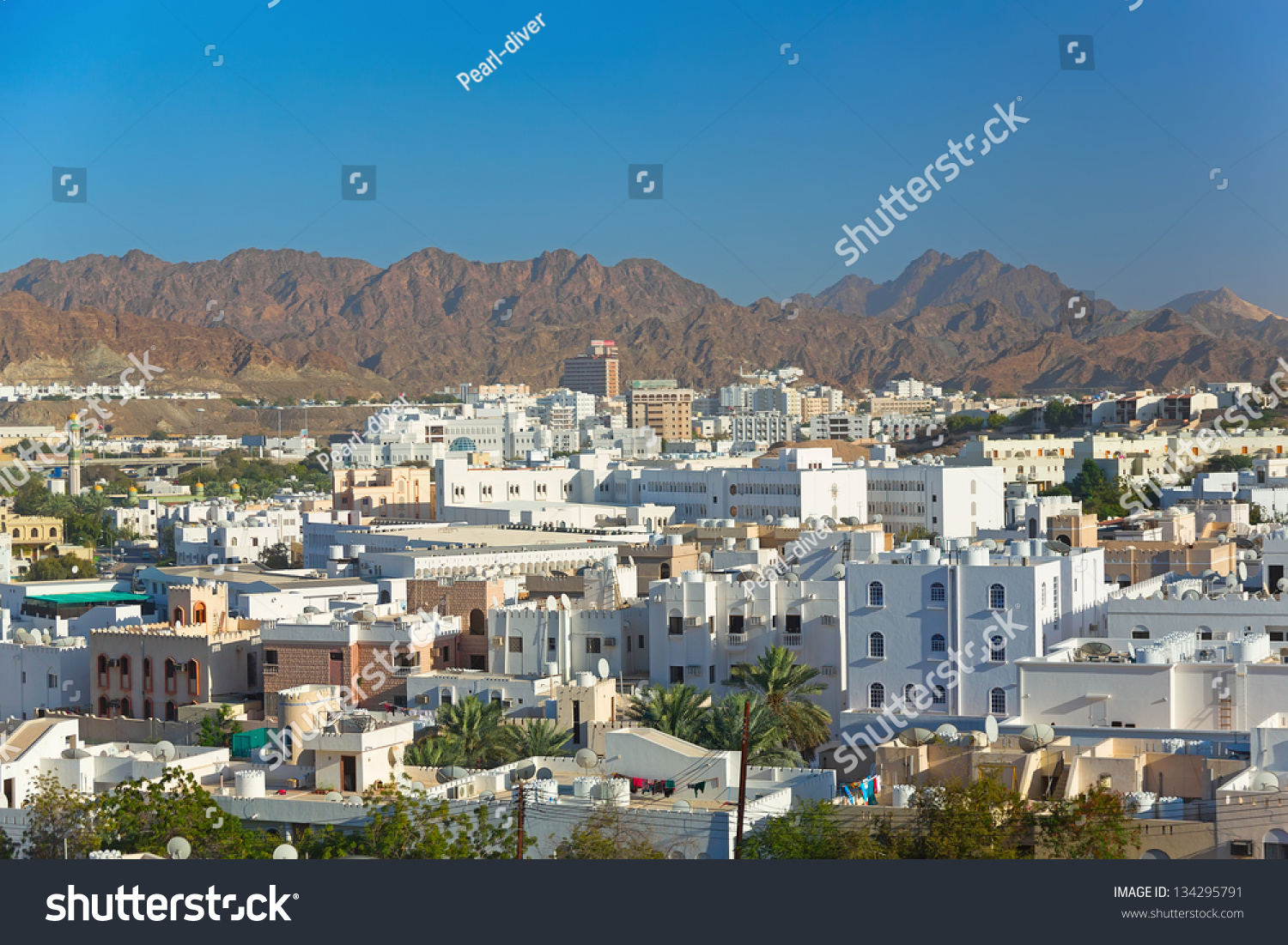 Beautiful Panoramic View Capital Oman Muscat Stock Photo (Edit Now