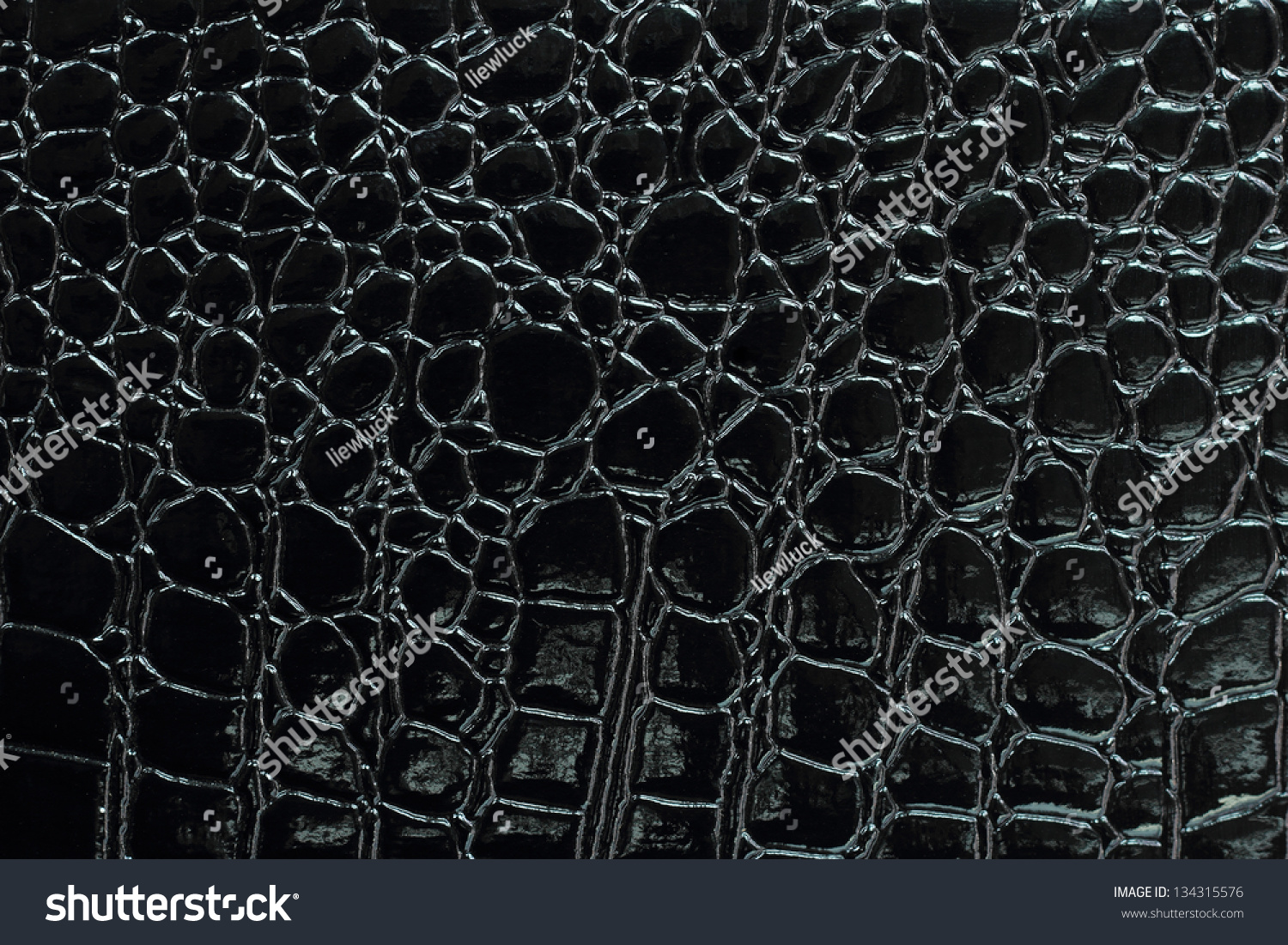 Black Crocodile Leather Texture With For Background Stock ...