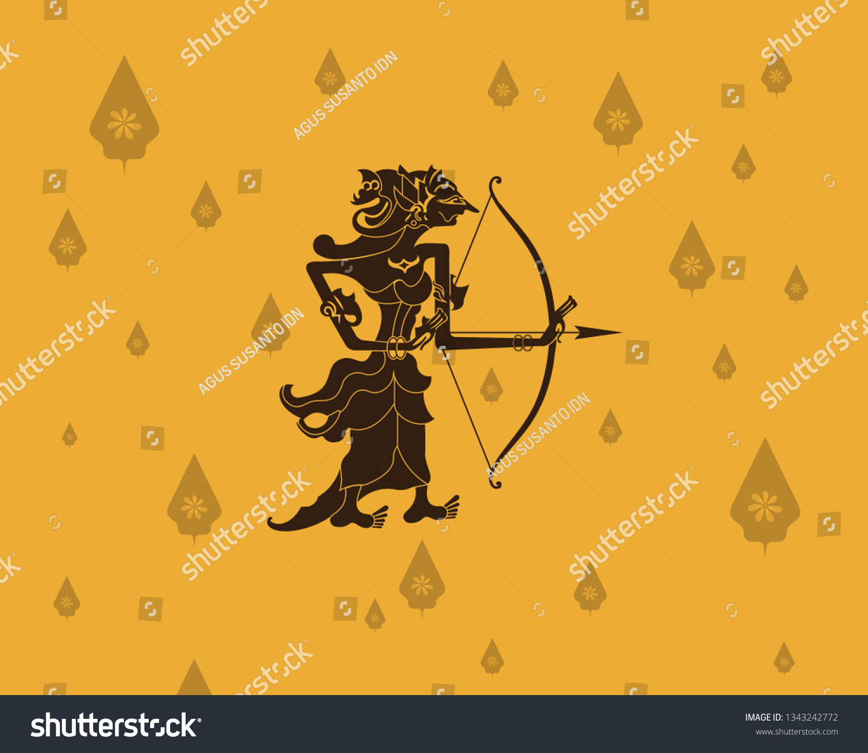 one wayang kulit legends originating indonesia stock vector royalty free 1343242772 https www shutterstock com image vector one wayang kulit legends originating indonesia 1343242772