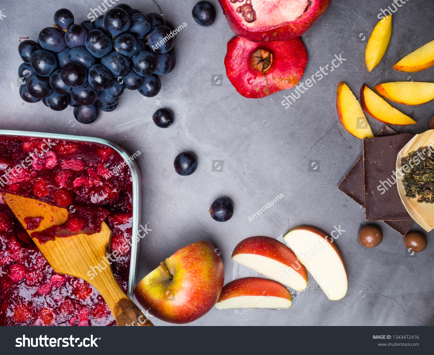 Flavonoid Antioxidants Resveratrol Rich Food On Stock Photo Edit