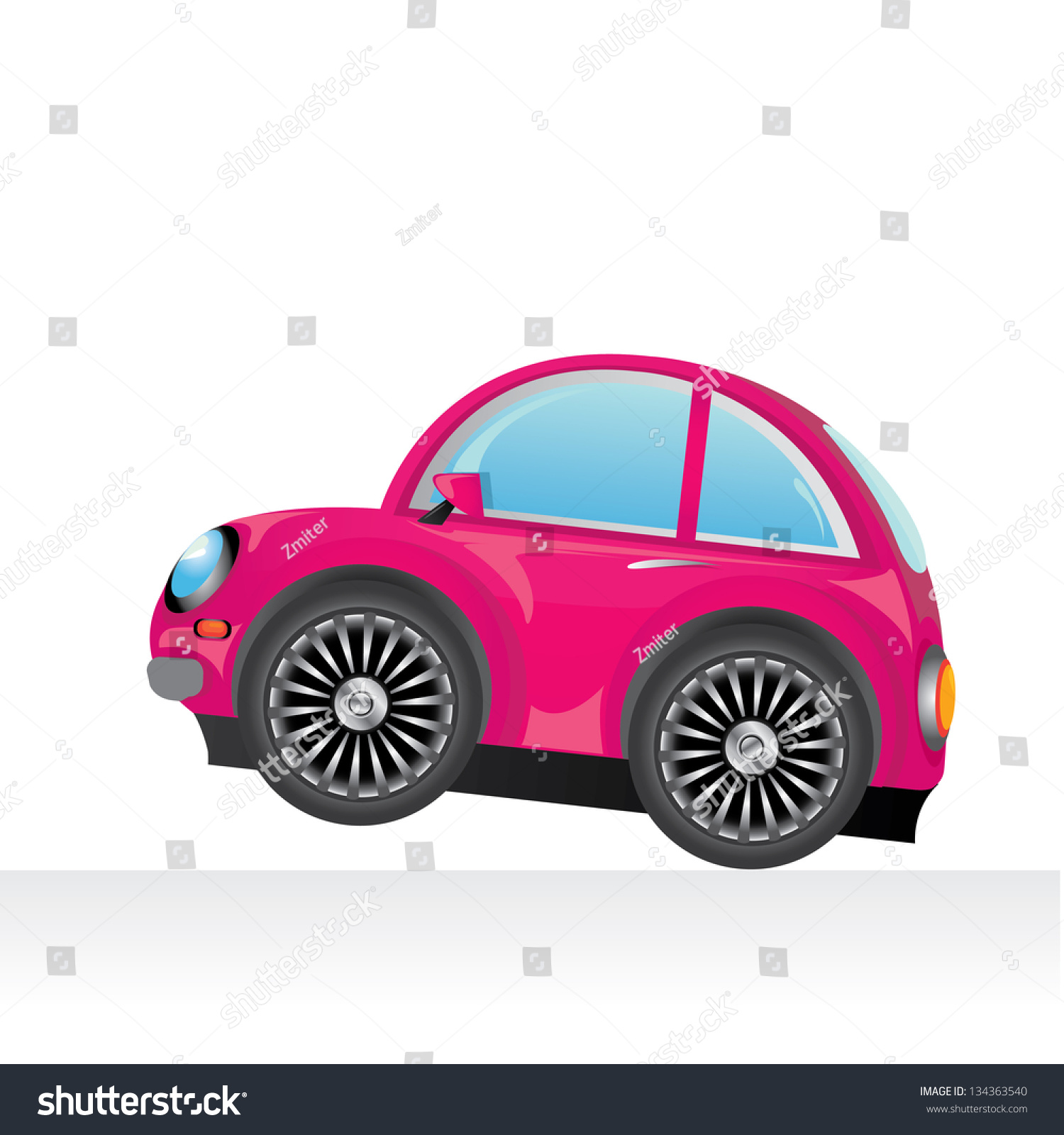 vector pink car icon vector toy car kids background for boy