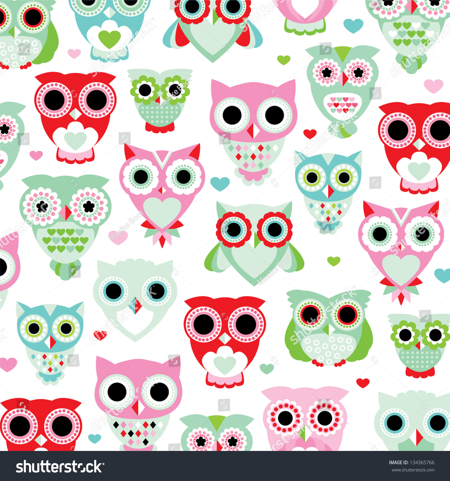 Free Owl Wallpapers: Seamless Pastel Powder Color Owl Background Stock Vector