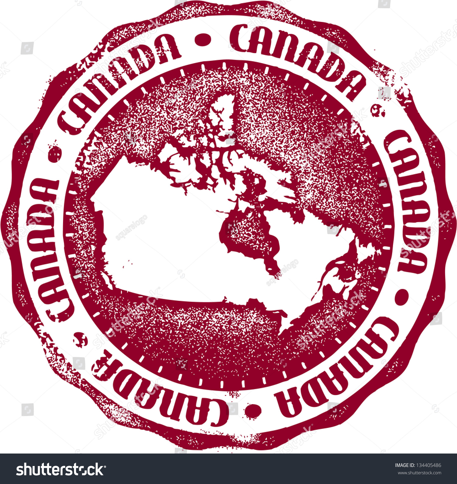 Vintage Canada Country Stamp Seal Stock Vector