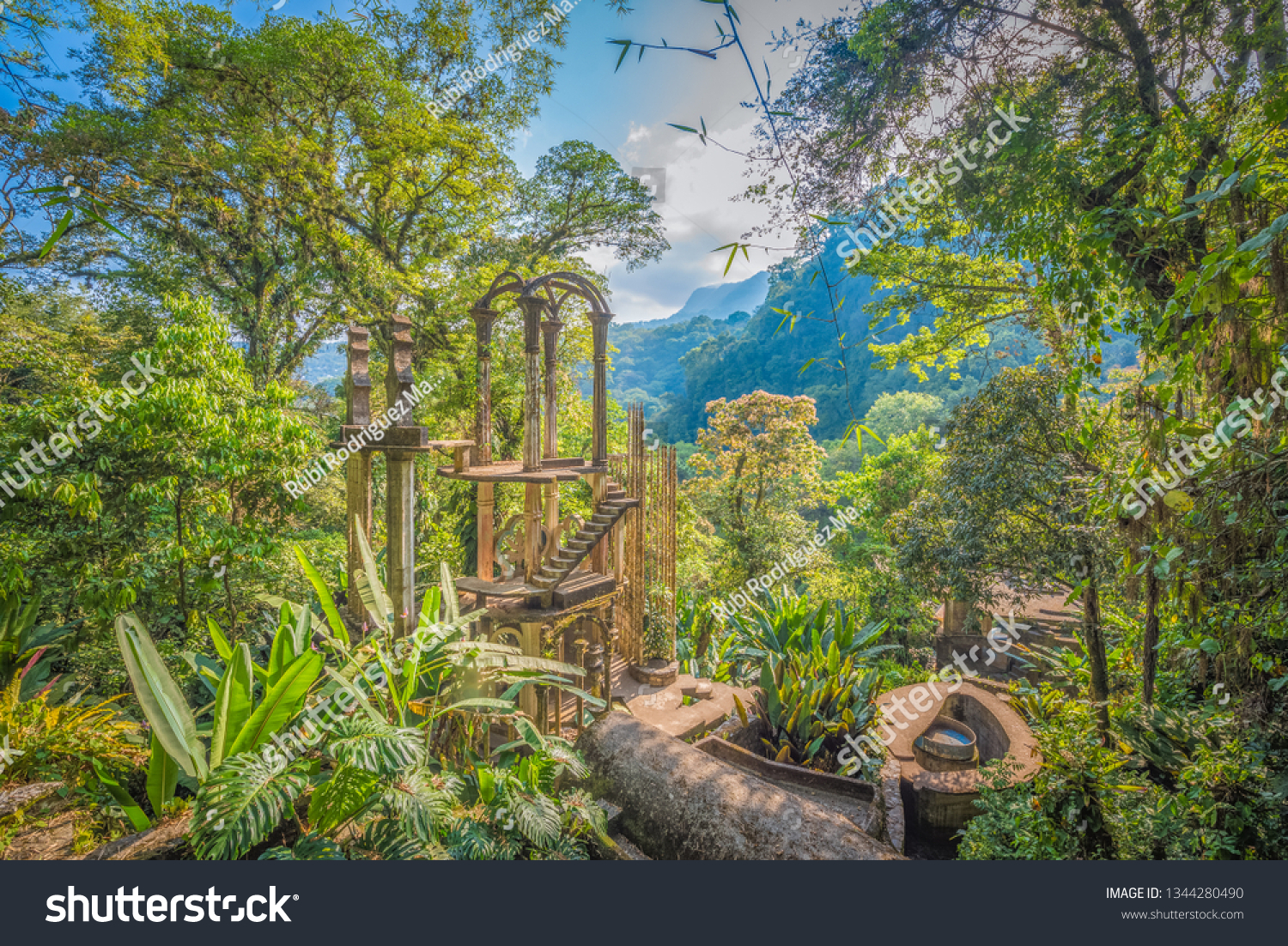 Xilitla Jungle Amazing Hidden Castle Huasteca Stock Photo Edit Now 1344280490