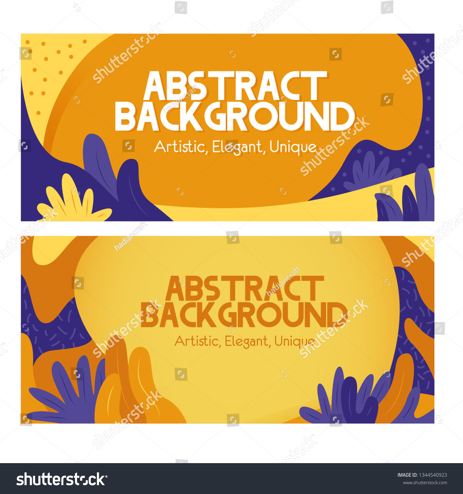 Aesthetic Abstract Background Template Blue Yellow Stock Vector Royalty Free 1344540923